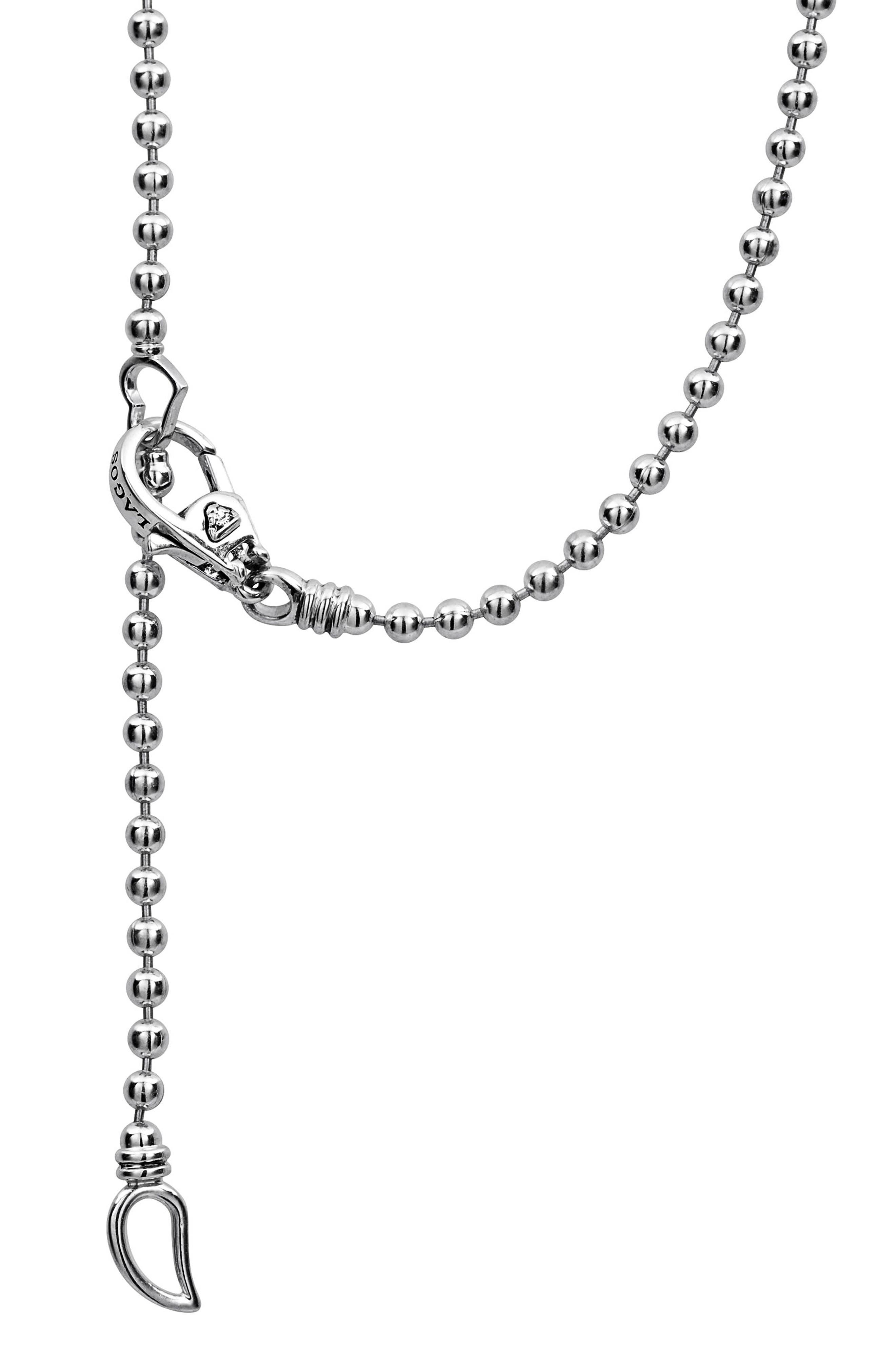 Caviar Spark Diamond Bar Pendant Necklace,                             Alternate thumbnail 3, color,                             Silver/ Diamond