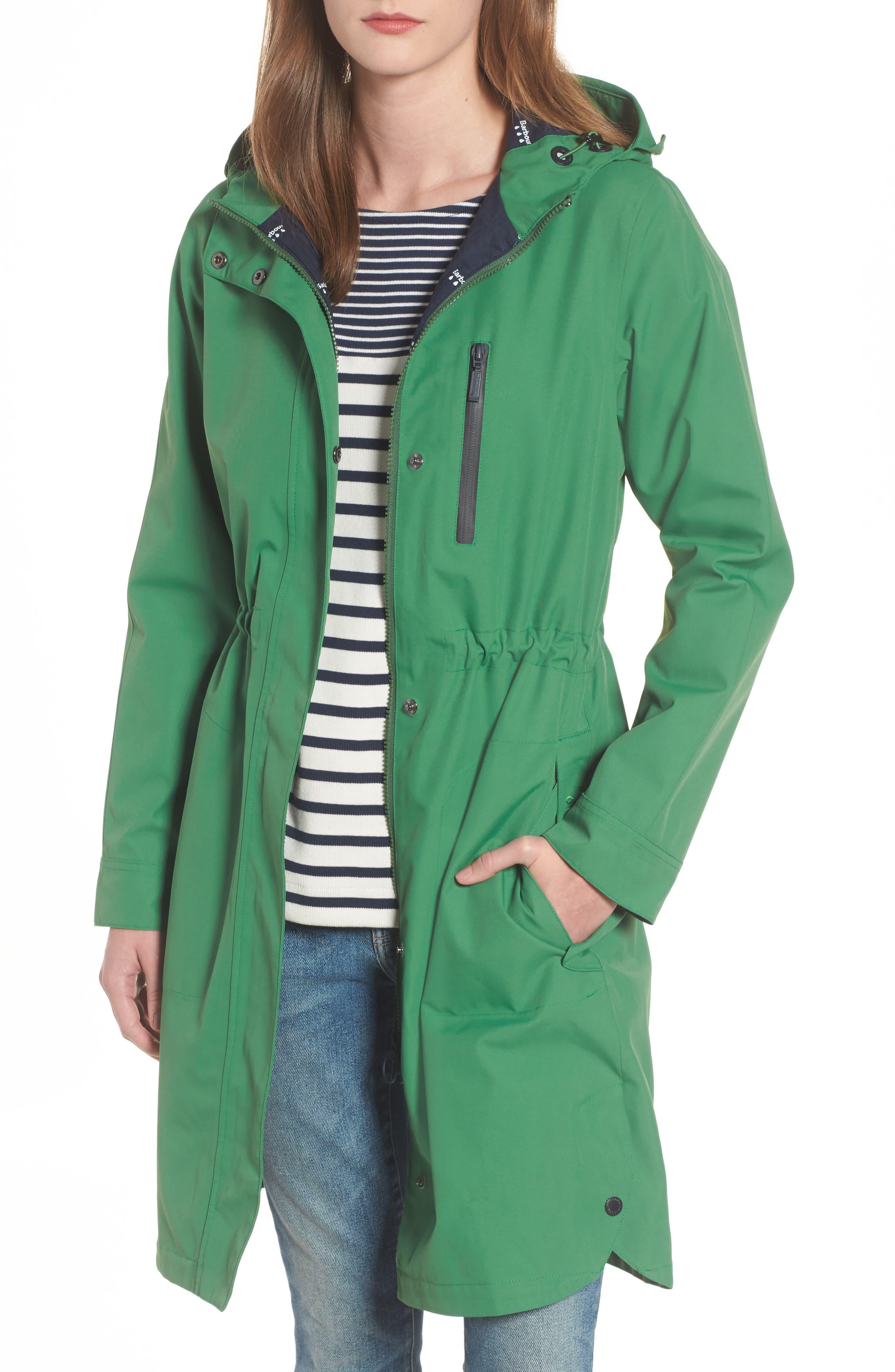 Sleet Hooded Jacket,                         Main,                         color, Clover