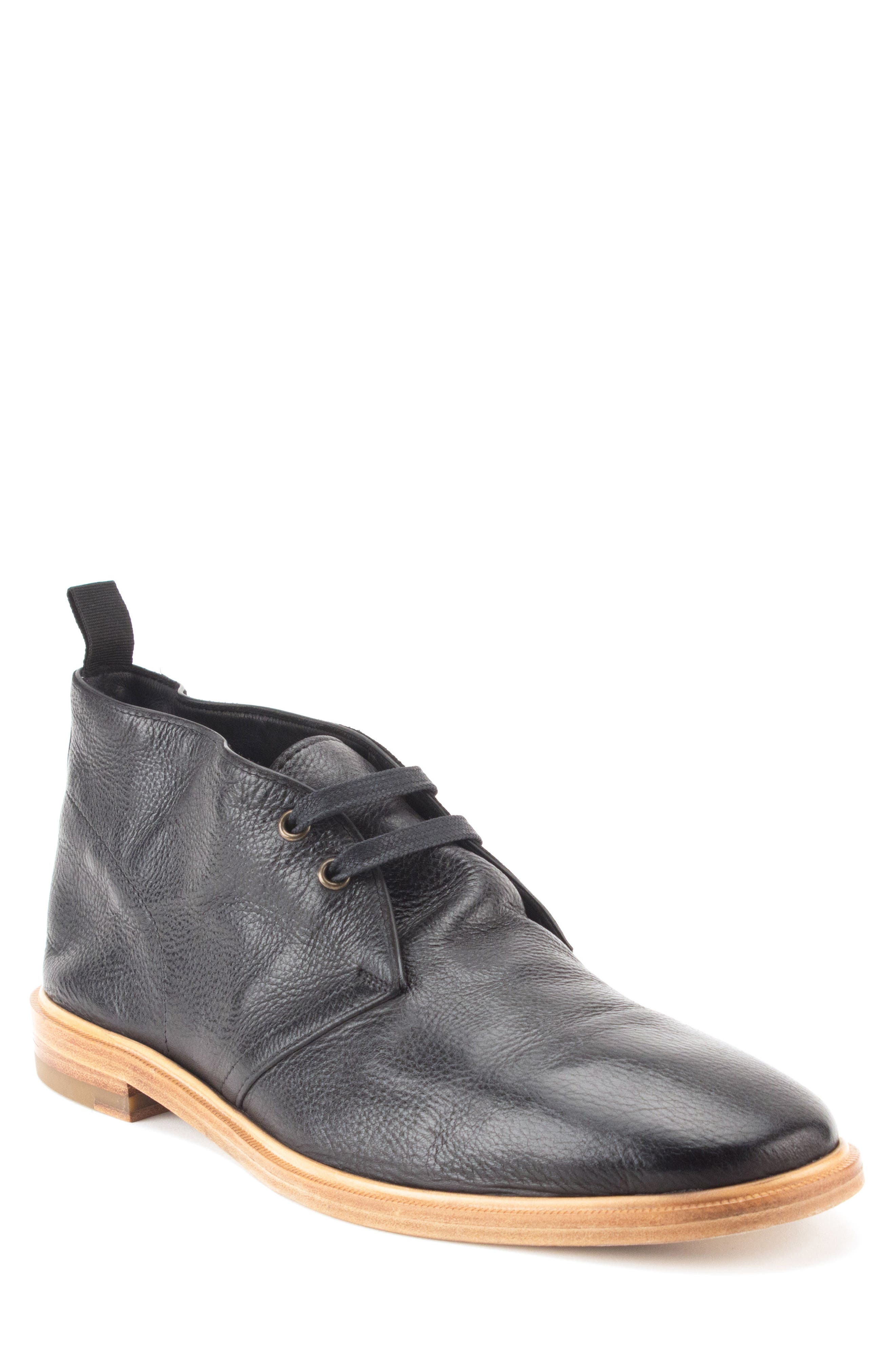 Luke Chukka Boot,                             Main thumbnail 1, color,                             Black Leather