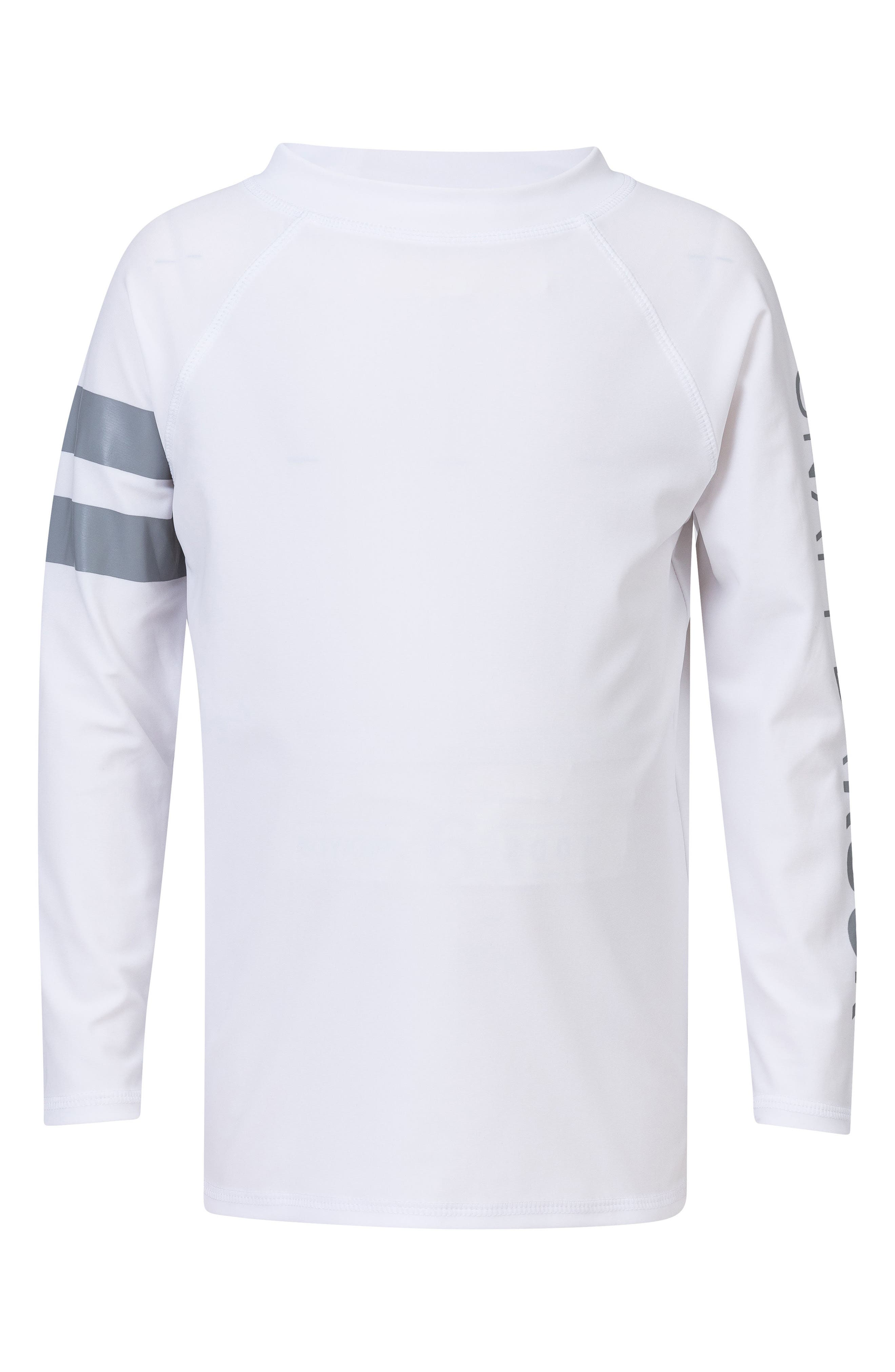 Raglan Long Sleeve Rashguard,                         Main,                         color, White/ Grey