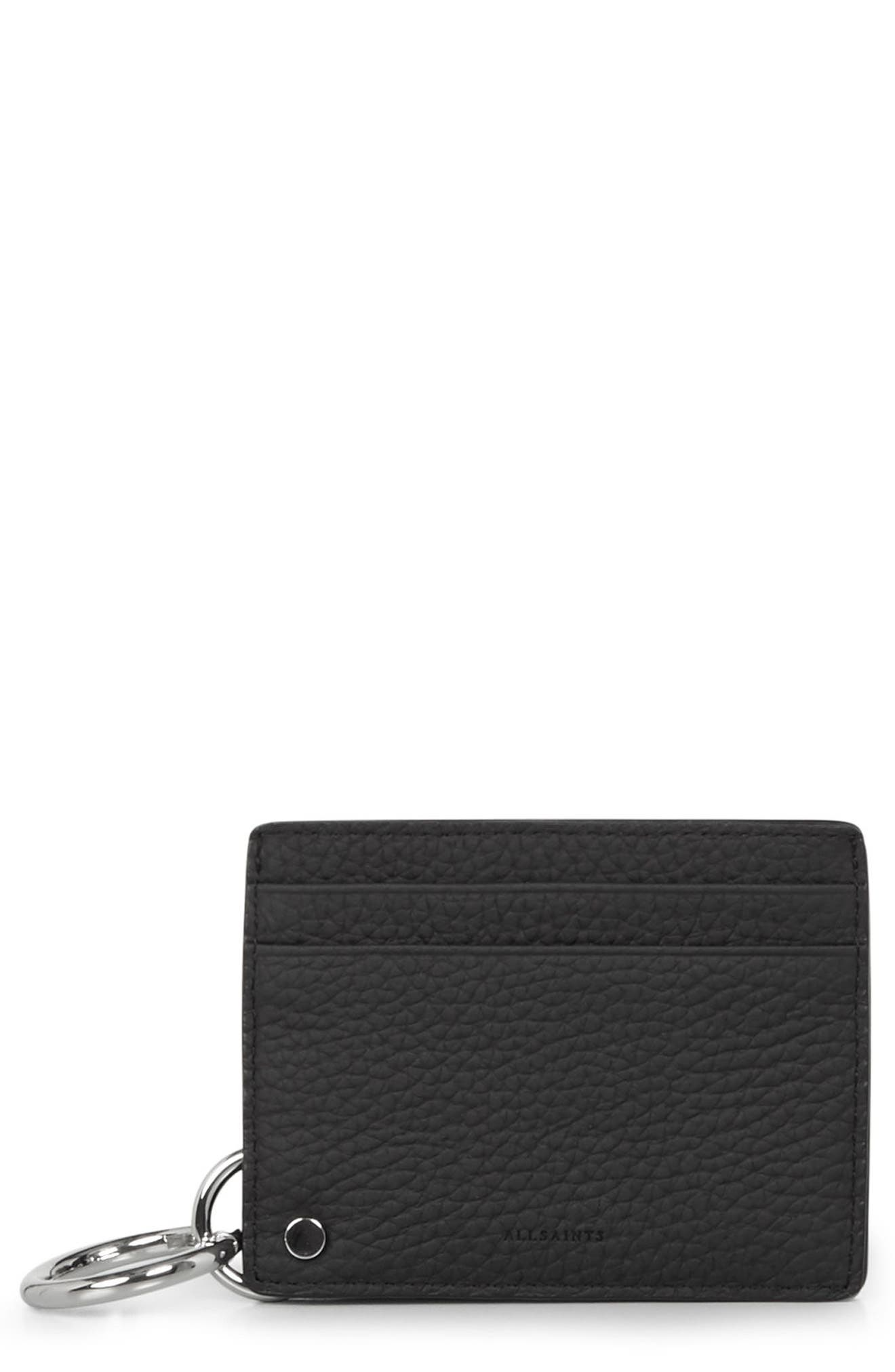 ALLSAINTS Fetch Mirror Leather Cardholder
