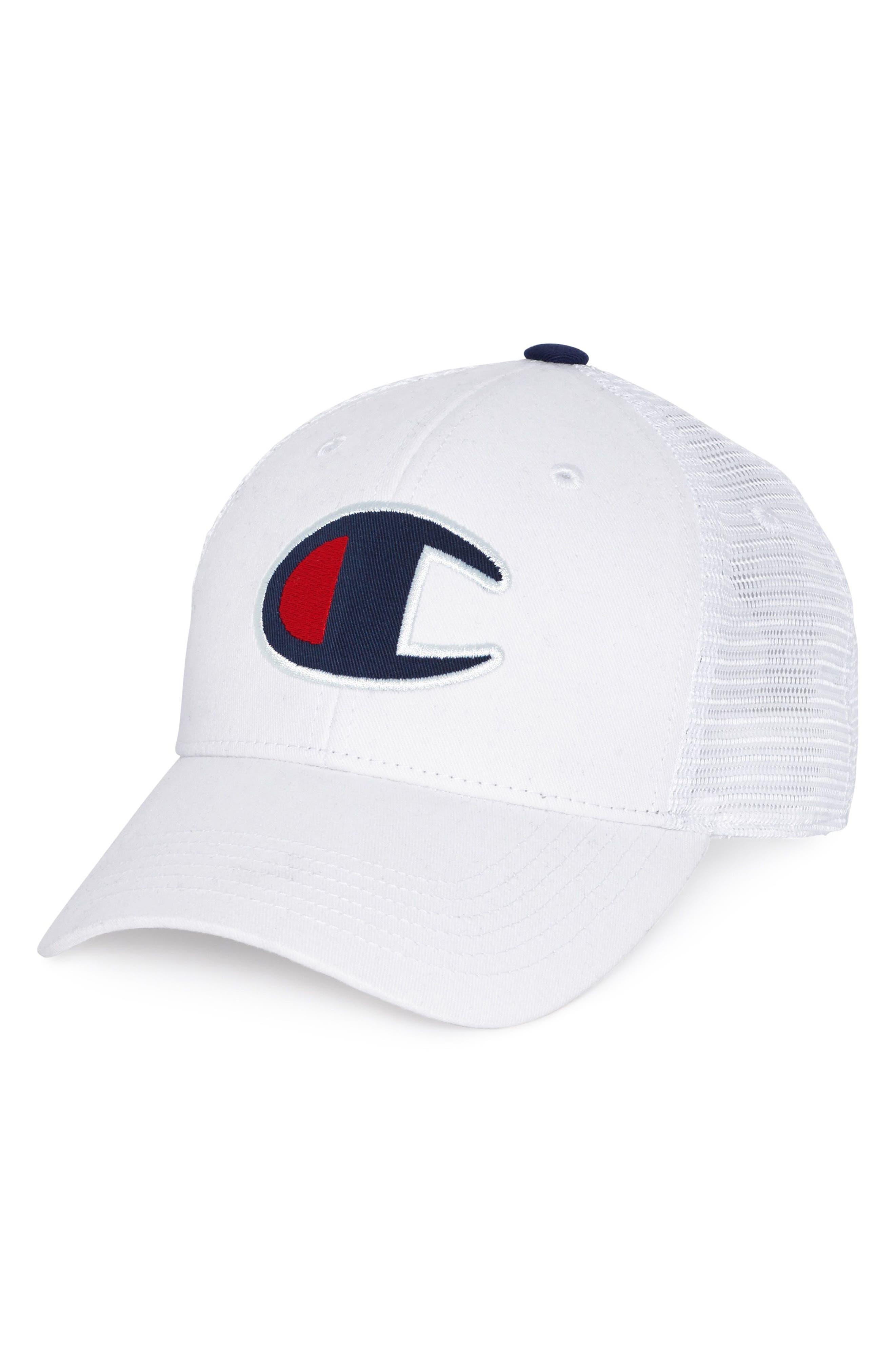 Mesh Back Dad Cap,                         Main,                         color, White