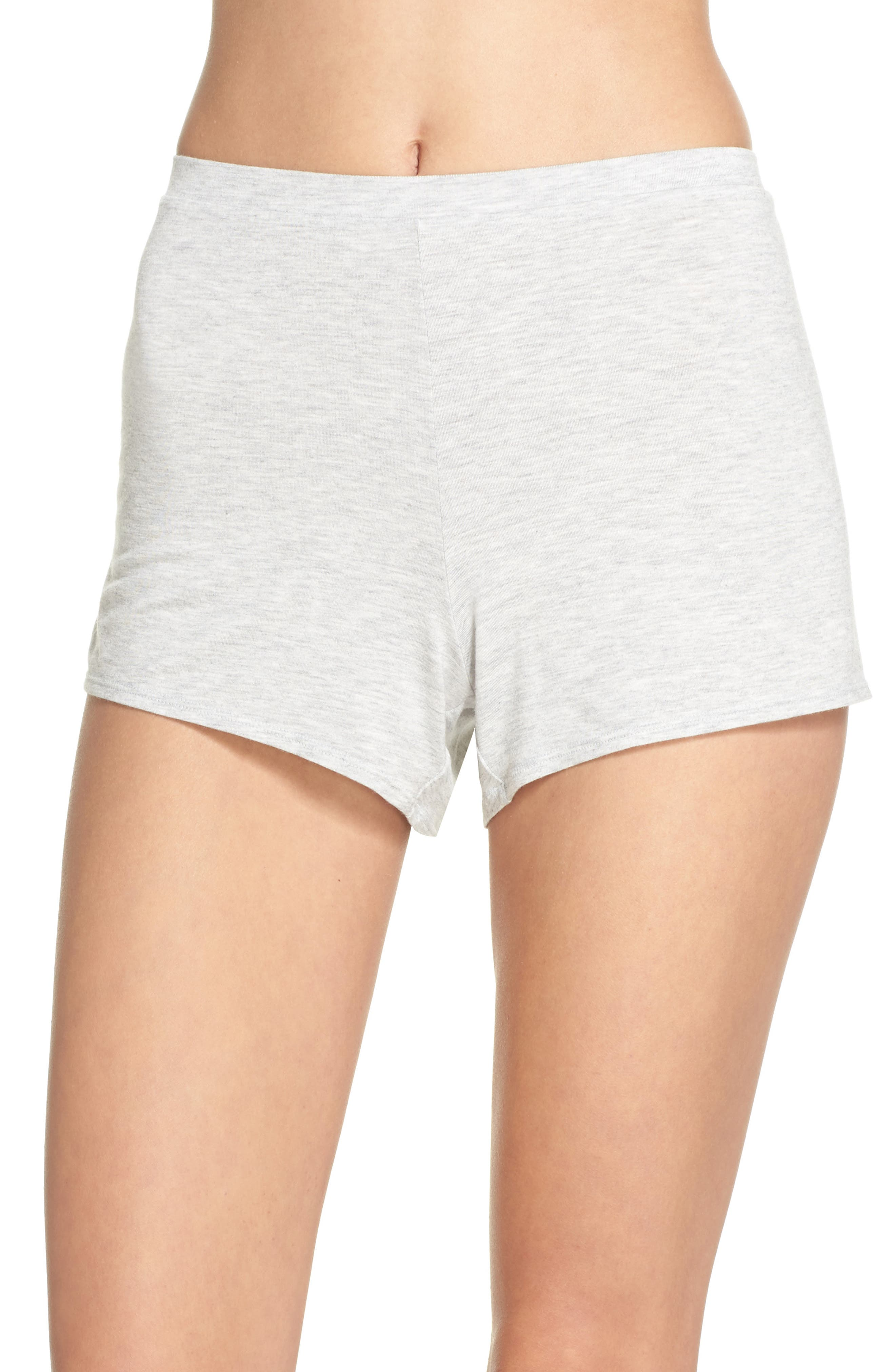 Undressed Pajama Shorts,                         Main,                         color, Silver