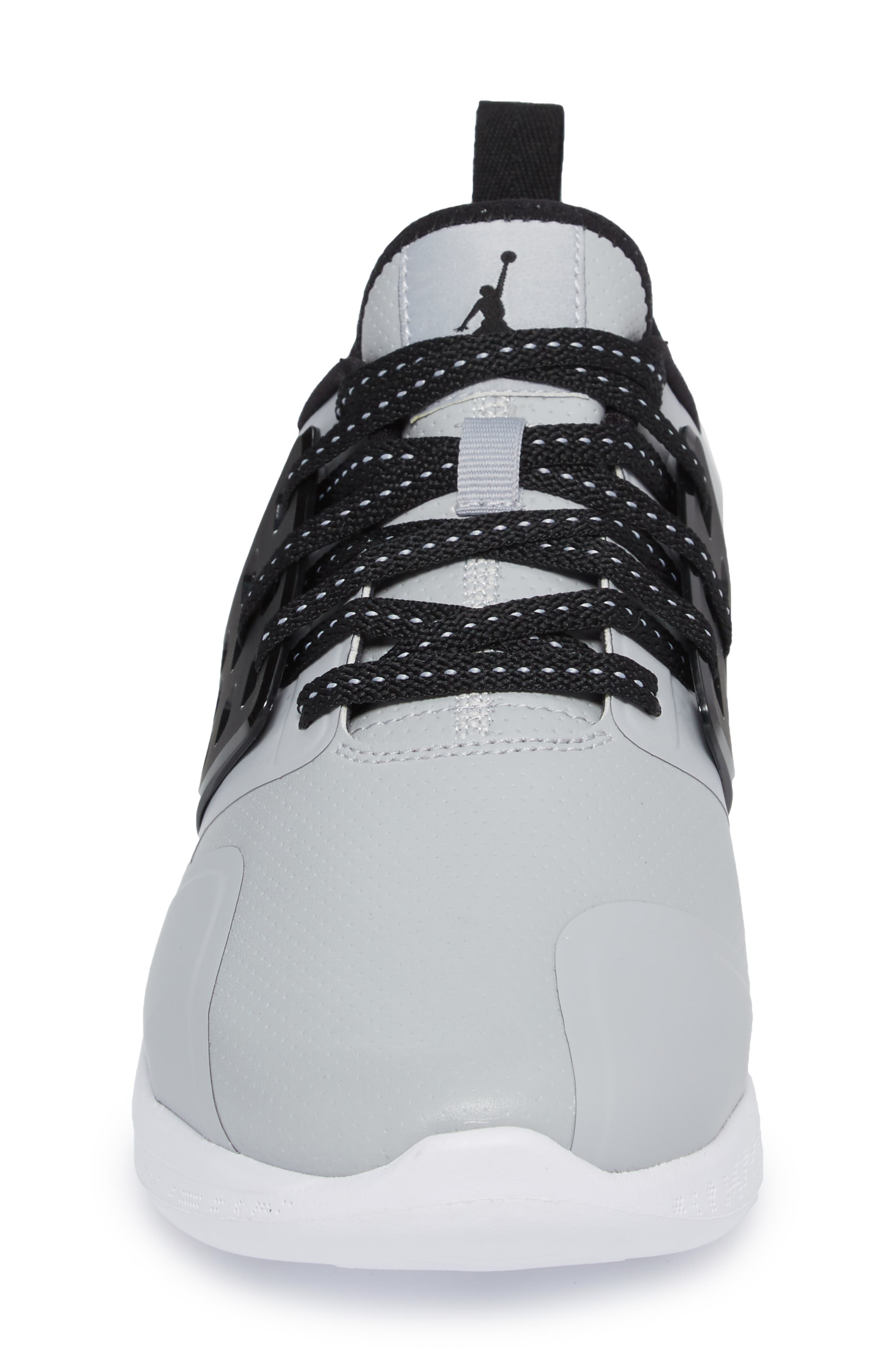 Jordan Grind Running Shoe,                             Alternate thumbnail 4, color,                             Wolf Grey/ Black/ White