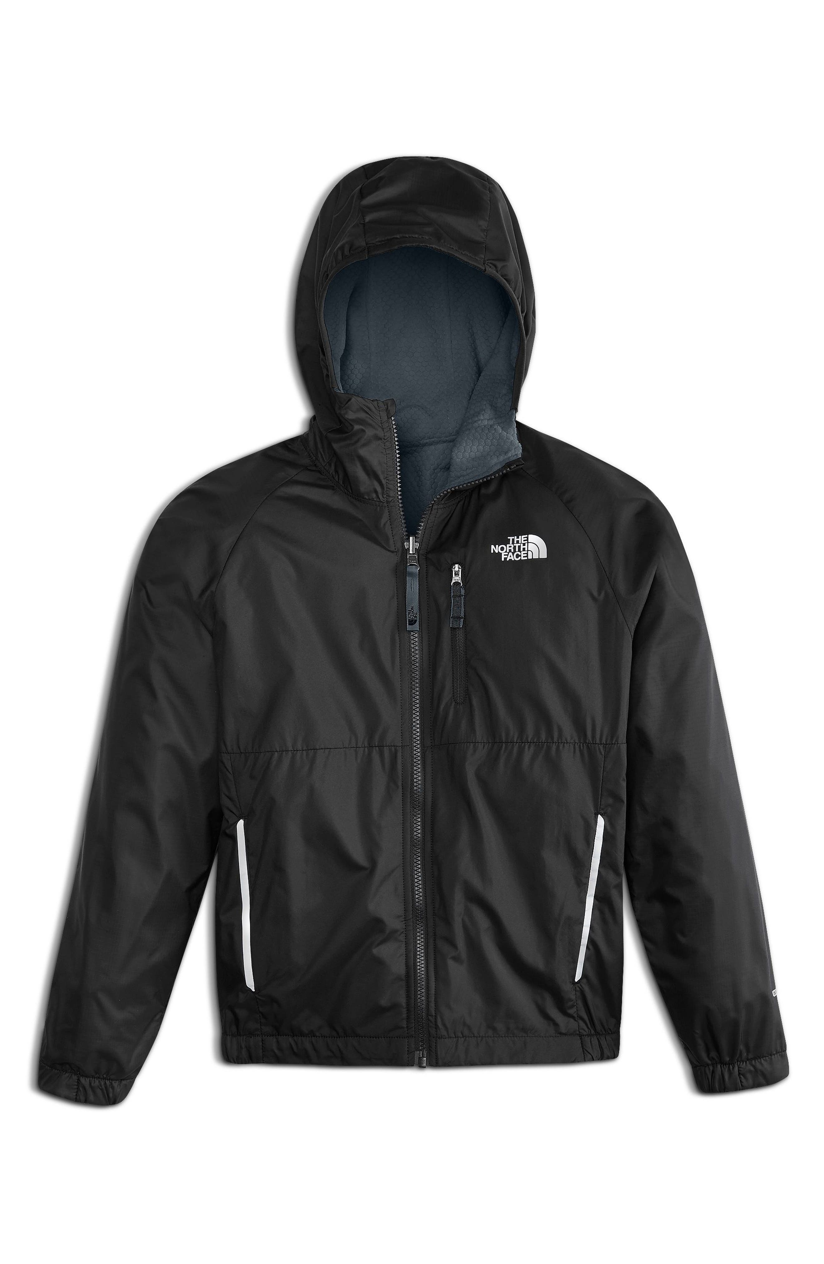 Breezeway Reversible Wind Jacket,                             Main thumbnail 1, color,                             Tnf Black
