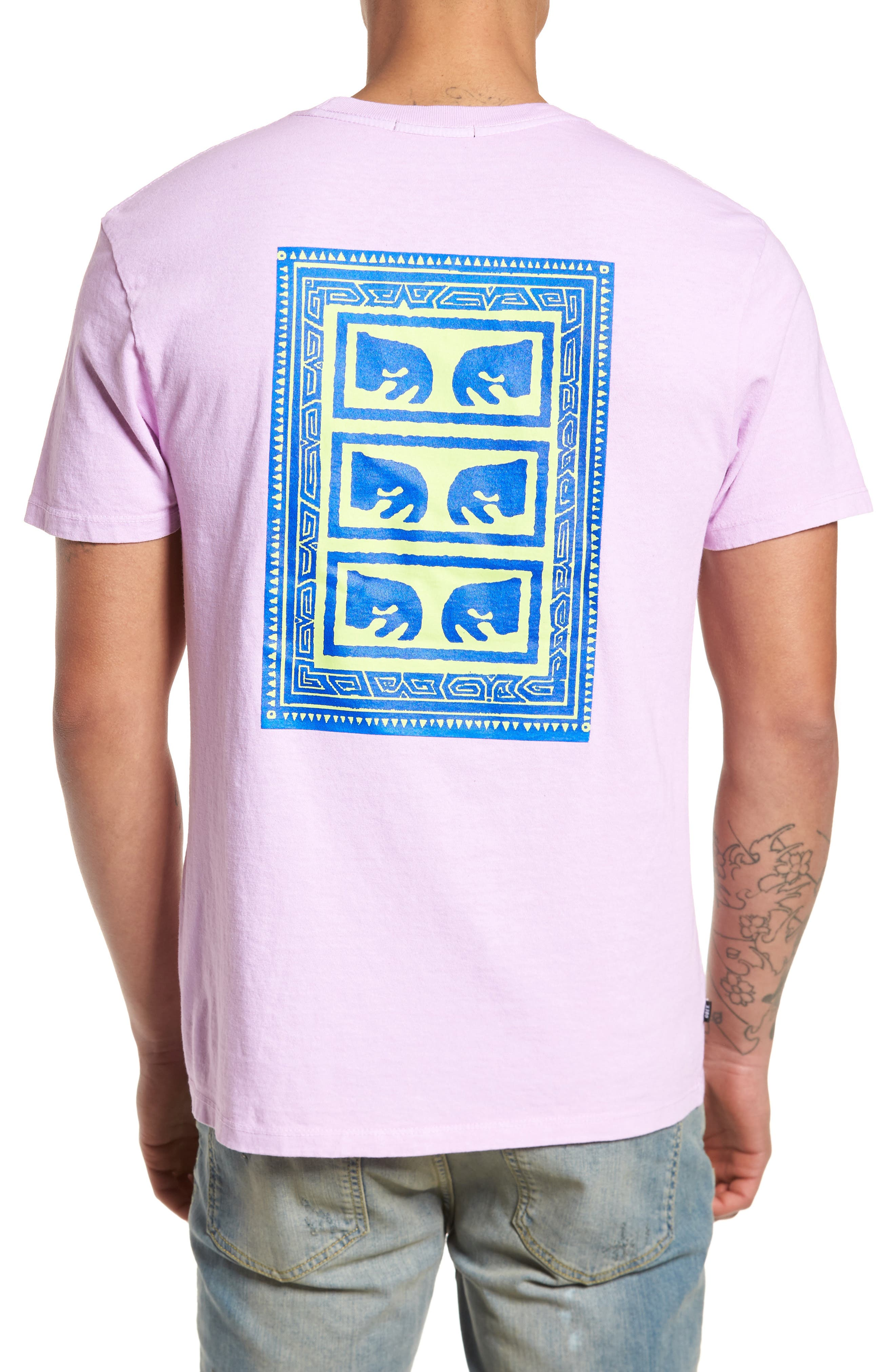 Flashback Pigment Dyed T-Shirt,                             Alternate thumbnail 2, color,                             Dusty Lavender