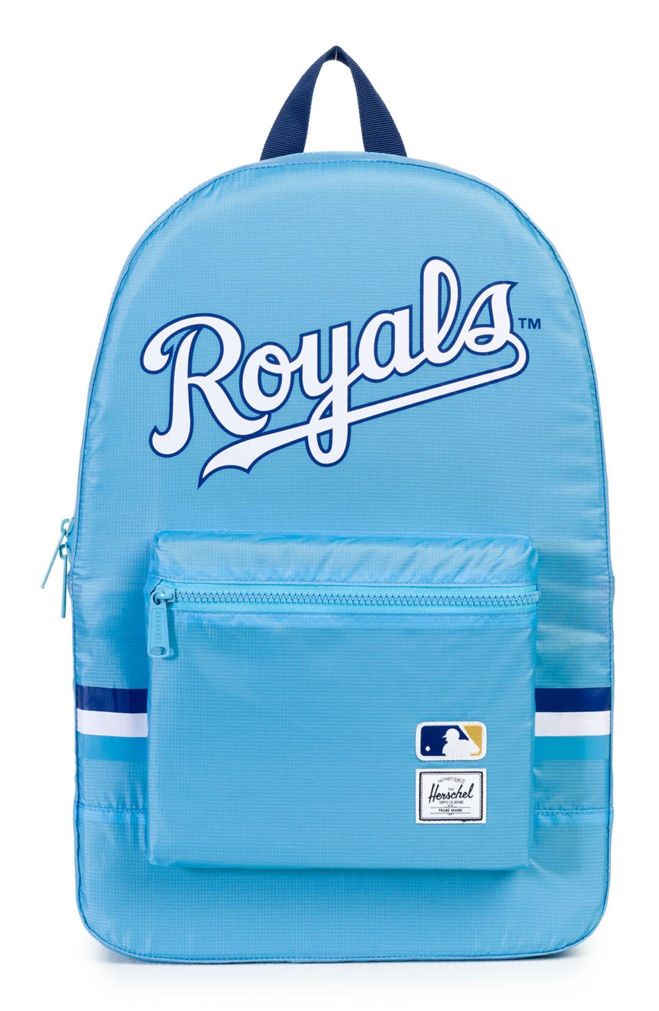 Packable - MLB American League Backpack,                             Main thumbnail 1, color,                             Kansas City Royals