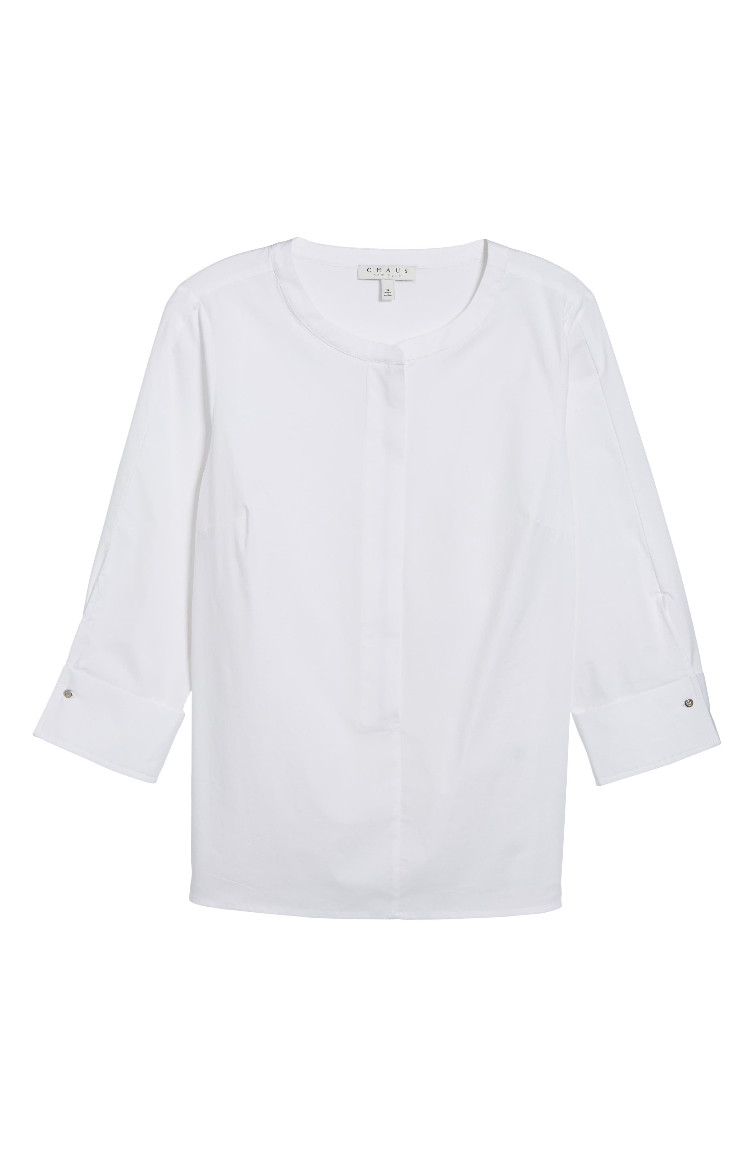 Poplin Blouse,                             Alternate thumbnail 6, color,                             145-Ultra White