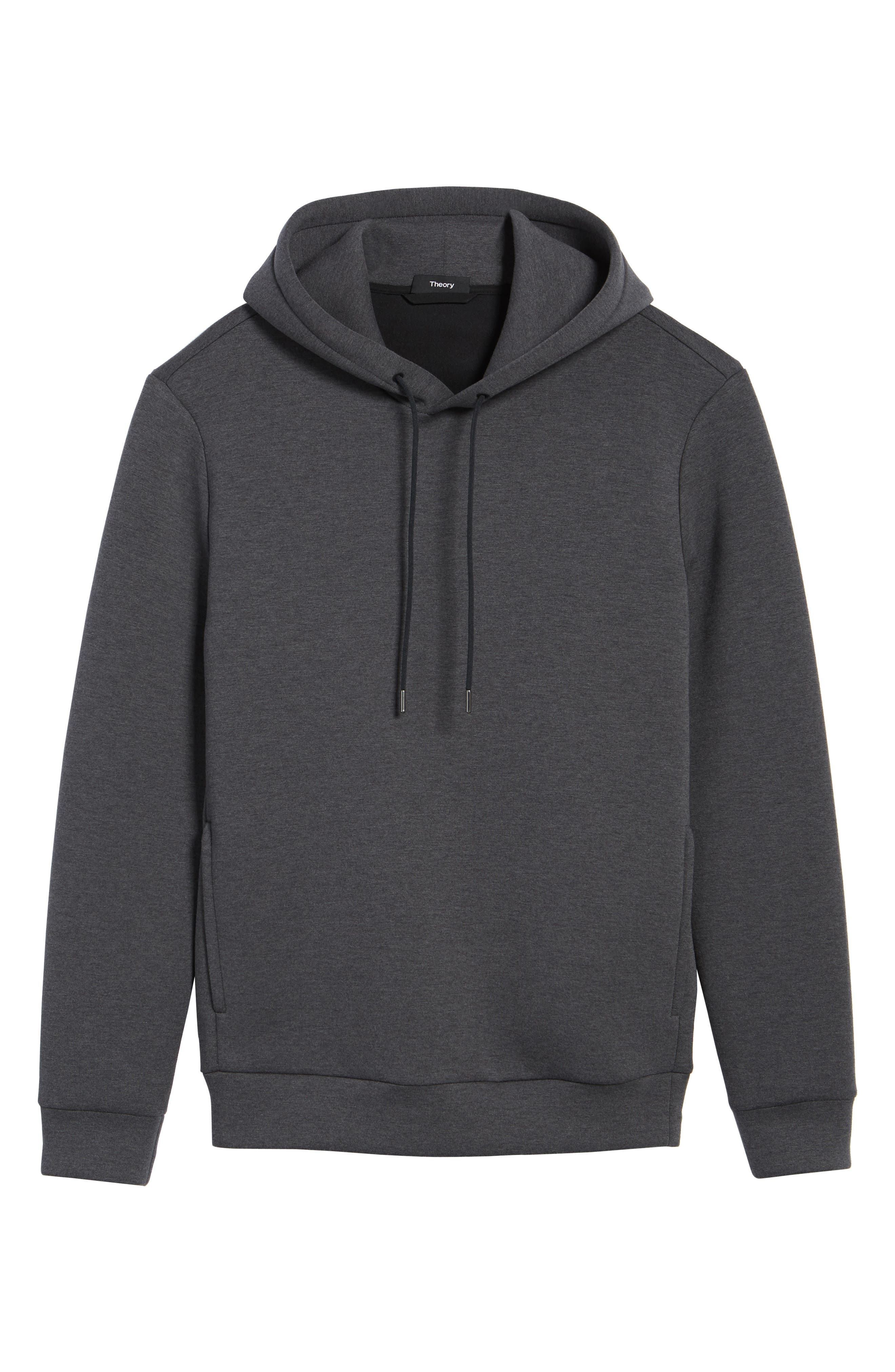 Scuba Pullover Hoodie,                             Alternate thumbnail 6, color,                             Charcoal Heather