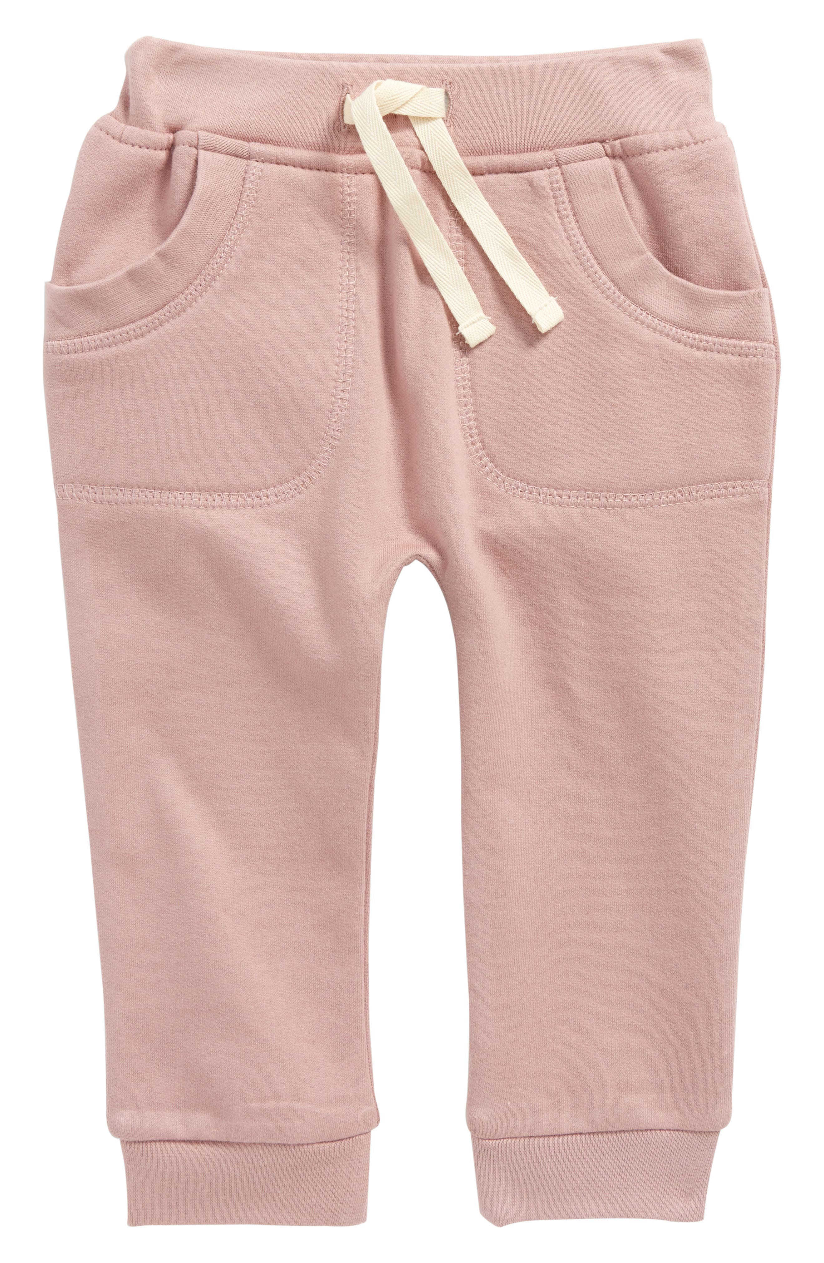 Main Image - City Mouse Organic Cotton Jogger Pants (Baby Girls)