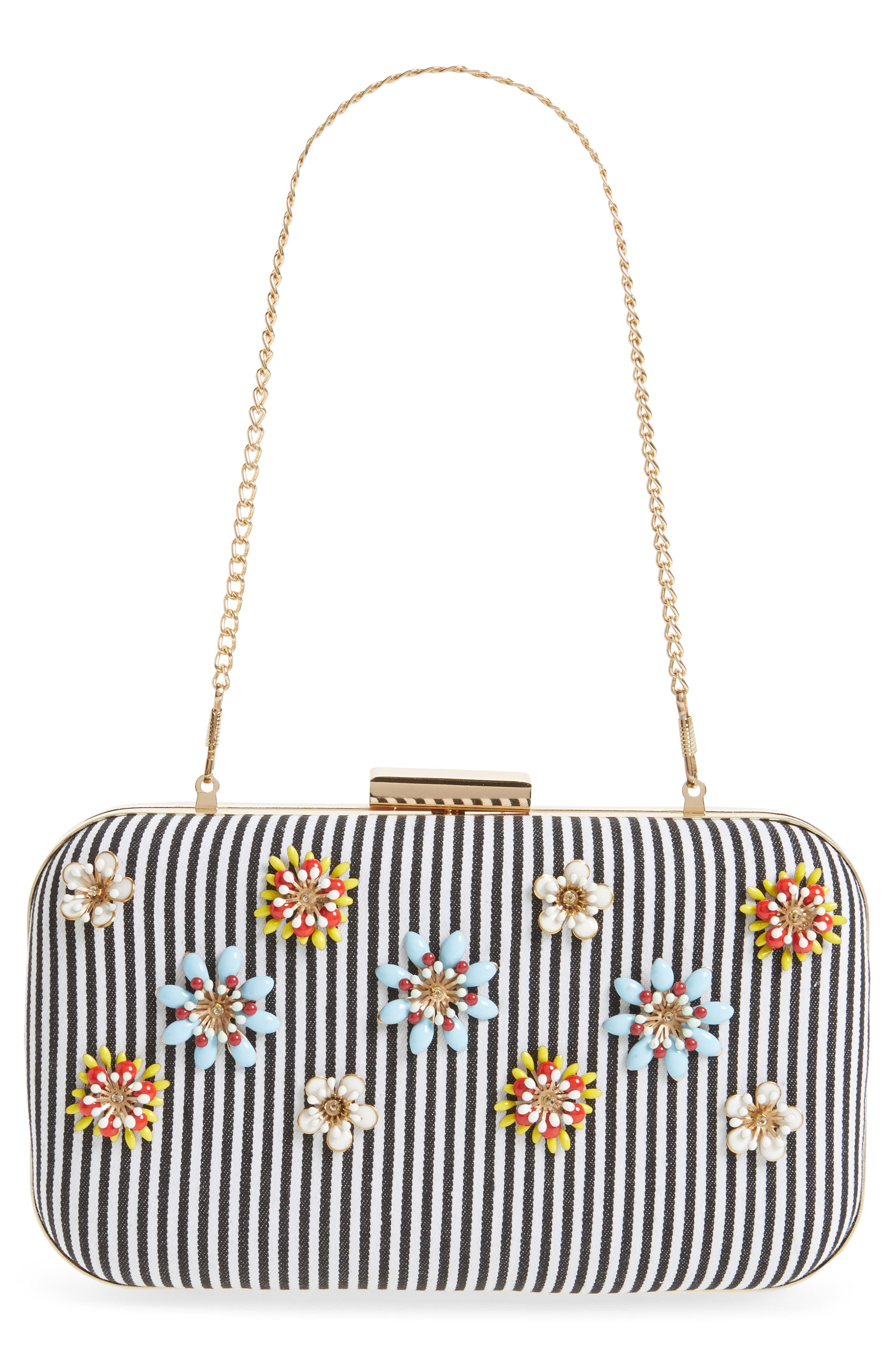 Alternate Image 7  - Natasha Couture Floral Embellished Frame Clutch