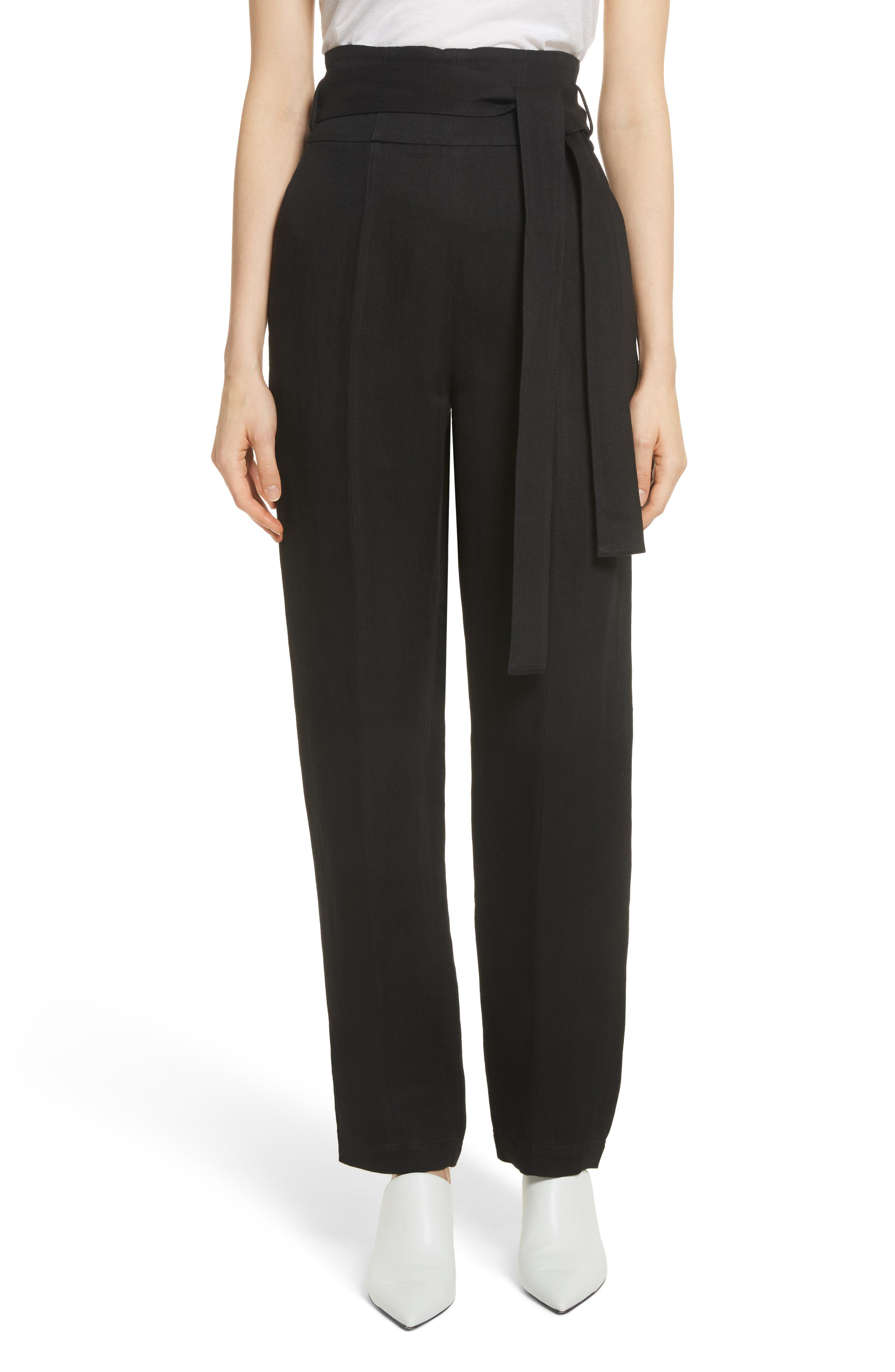 Robert Rodriguez Belted Linen Blend Pants