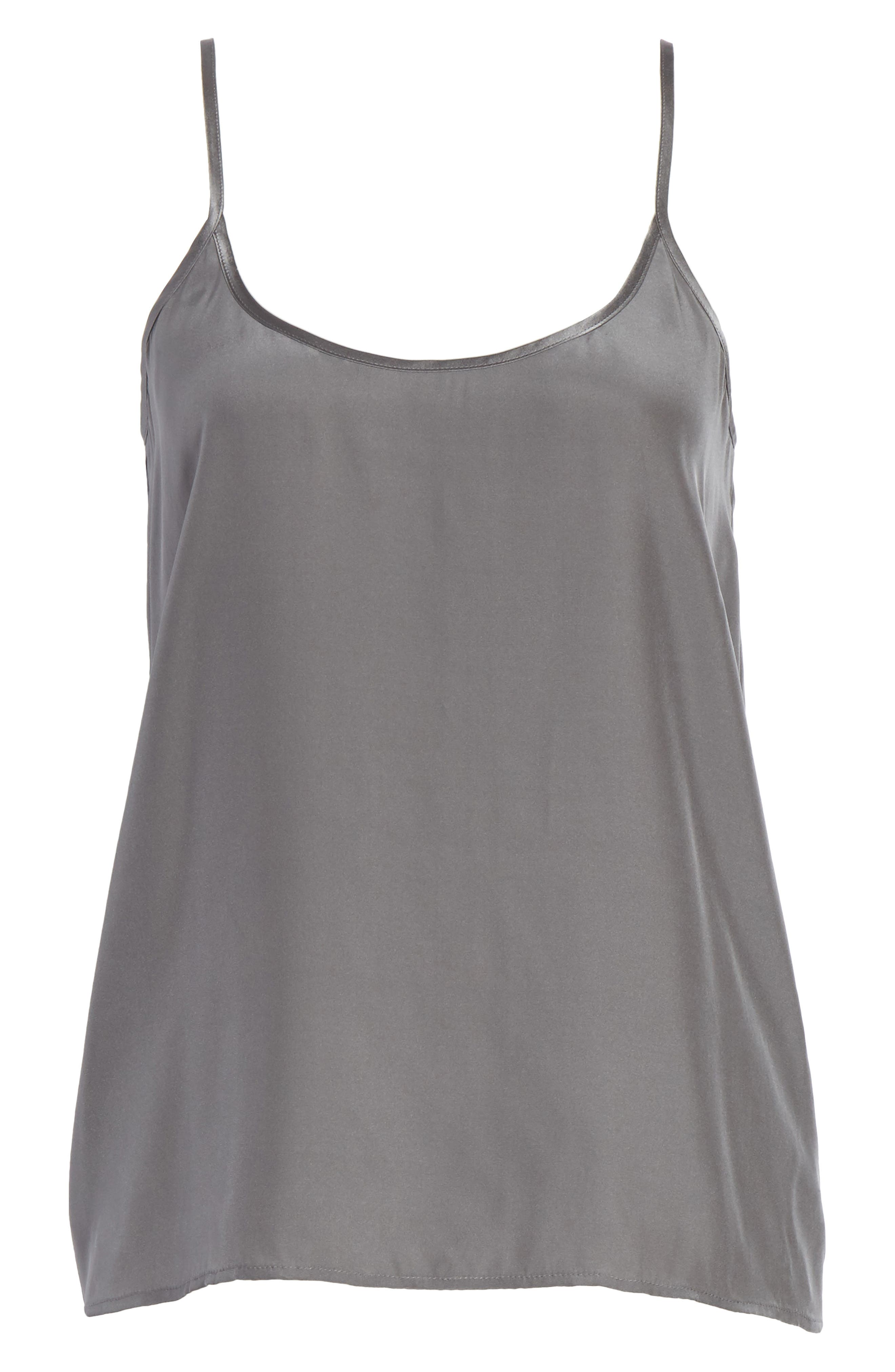 Silk Camisole,                             Alternate thumbnail 6, color,                             Steel