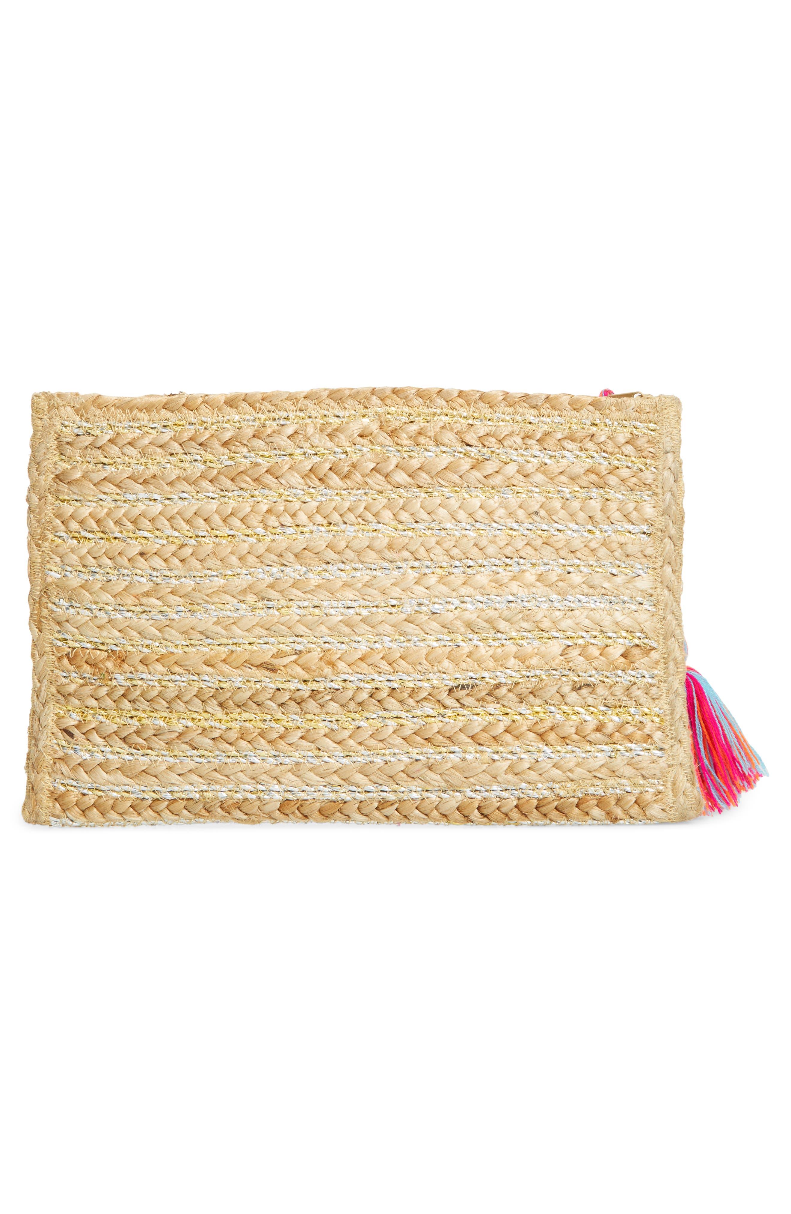Alternate Image 3  - Shiraleah Kali Embellished Straw Clutch