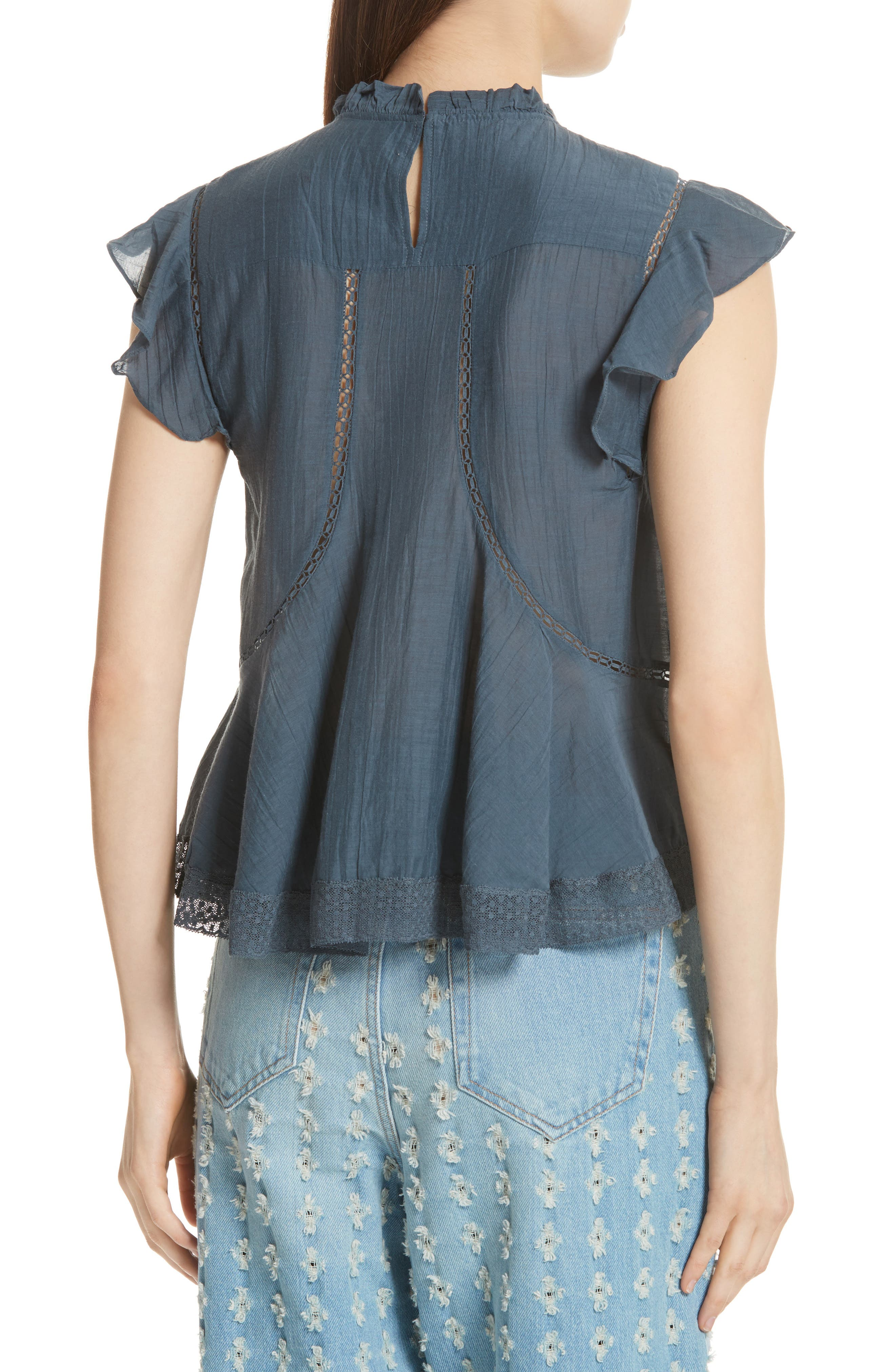Alternate Image 2  - Isabel Marant Étoile Vivia Lace Trim Top