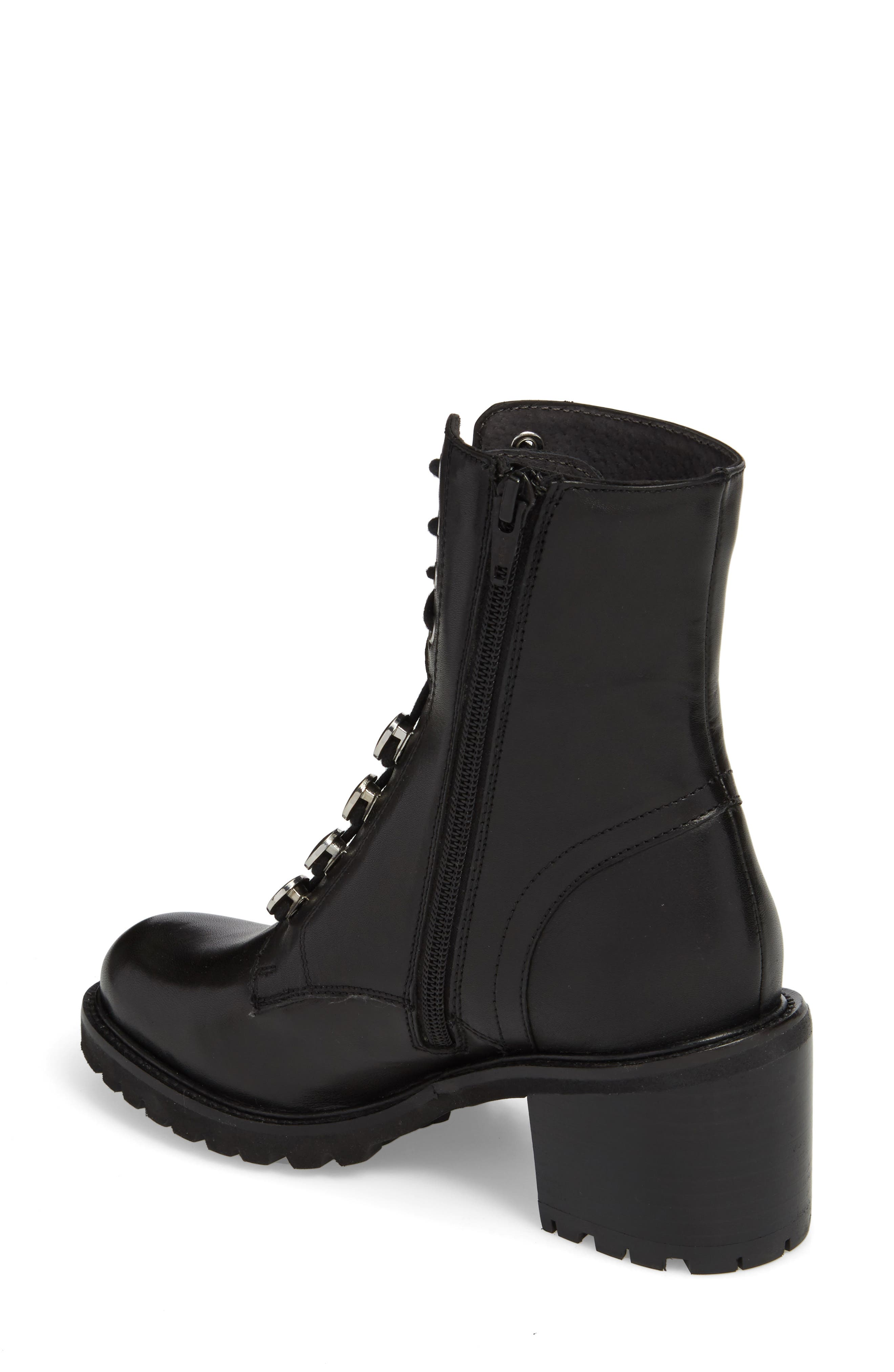 Make it Count Lace-Up Boot,                             Alternate thumbnail 2, color,                             Black Leather