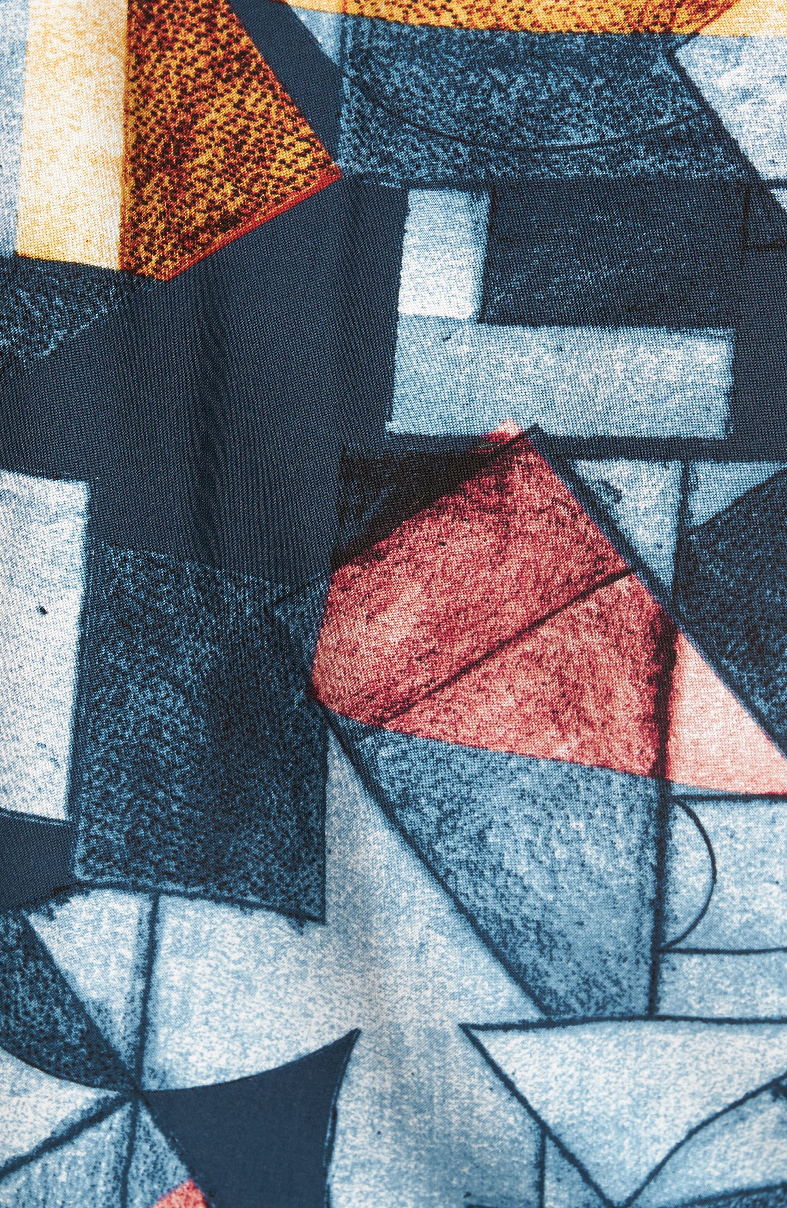 Olio Etch Woven Shirt,                             Alternate thumbnail 5, color,                             Indigo