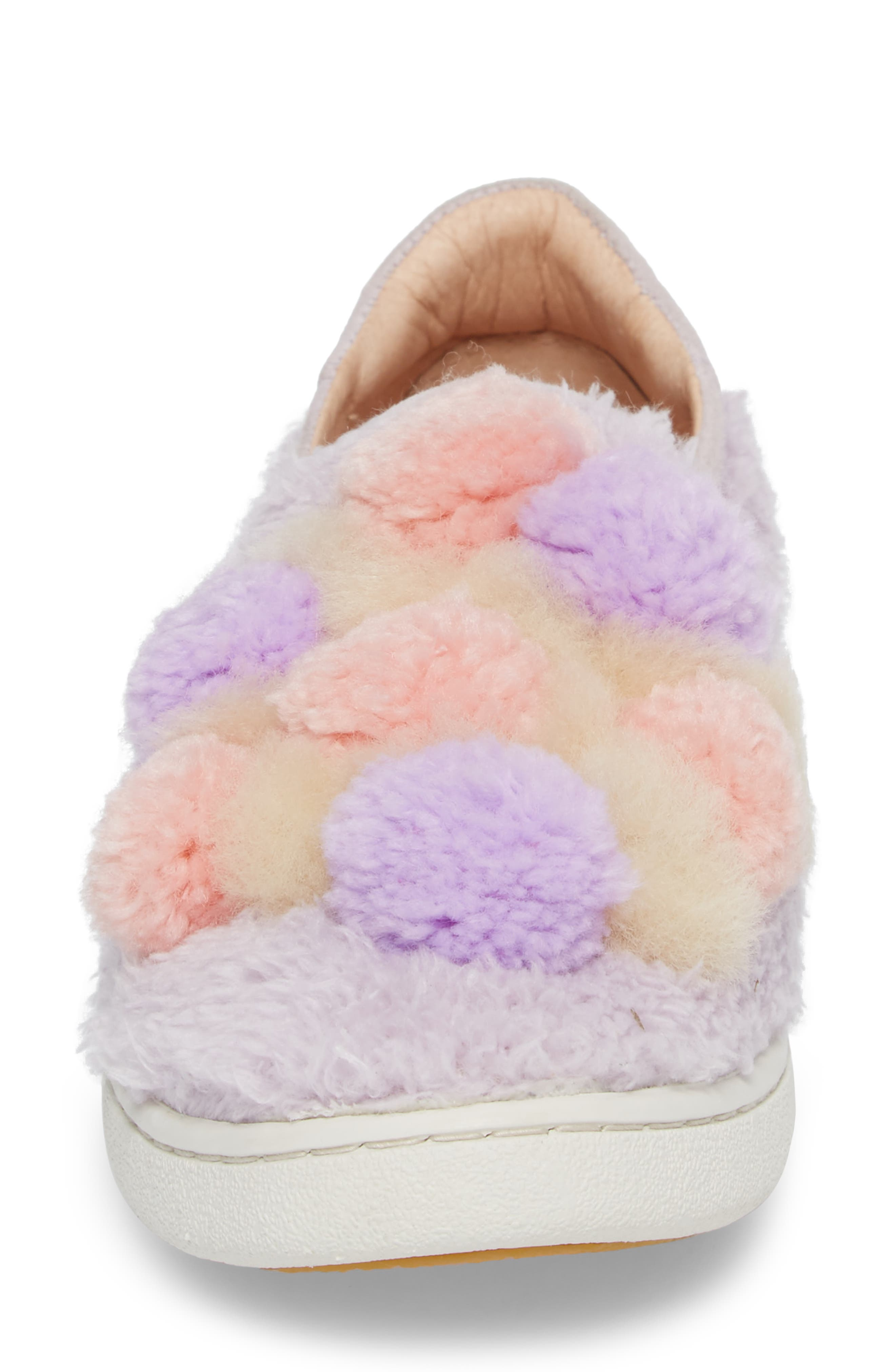 Alternate Image 4  - UGG® Ricci Plush Genuine Shearling Pompom Slip-On Sneaker (Women)
