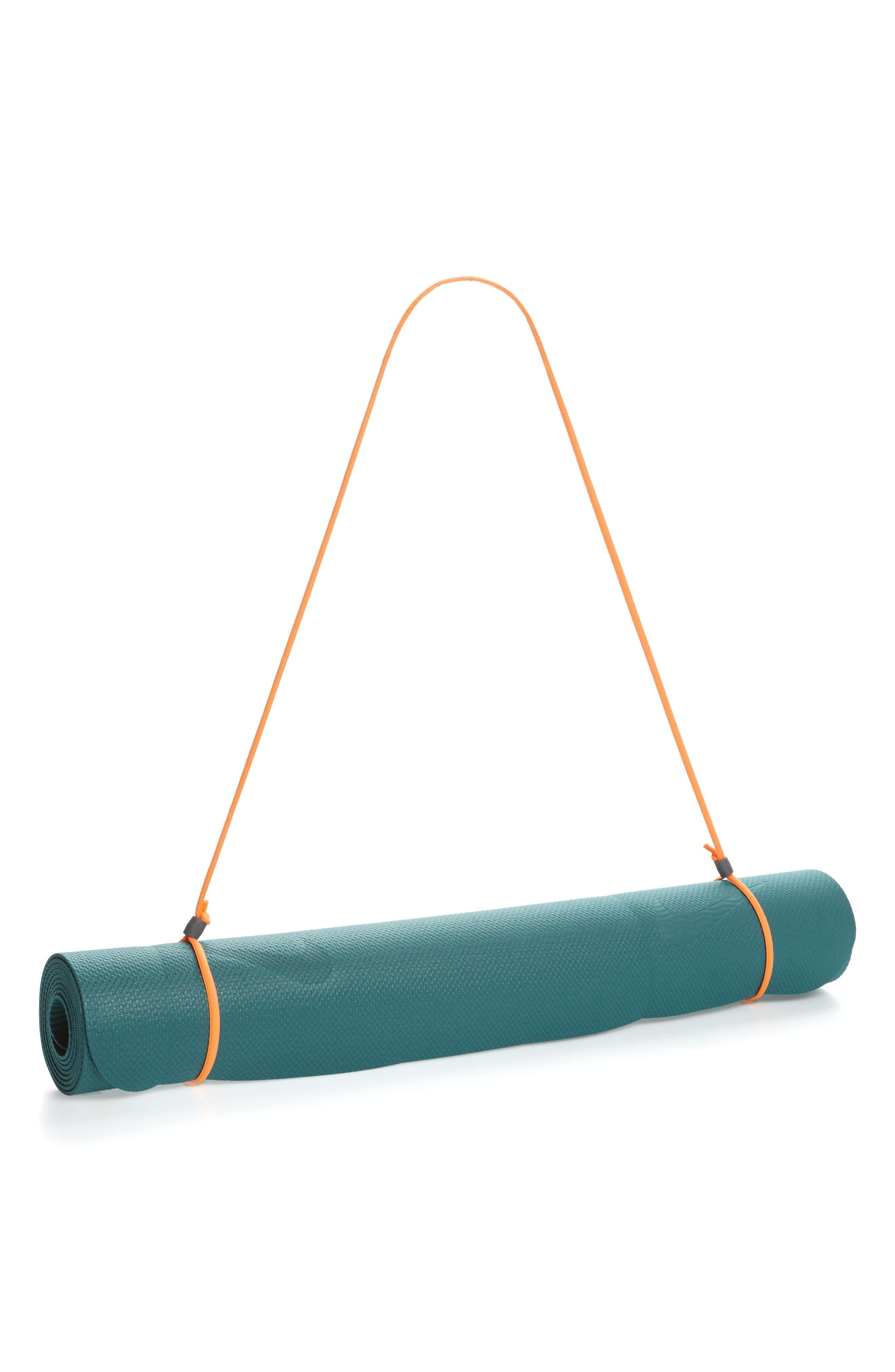 Fundamental 3mm Foam Yoga Mat,                         Main,                         color, Blustery/ Laser Orange