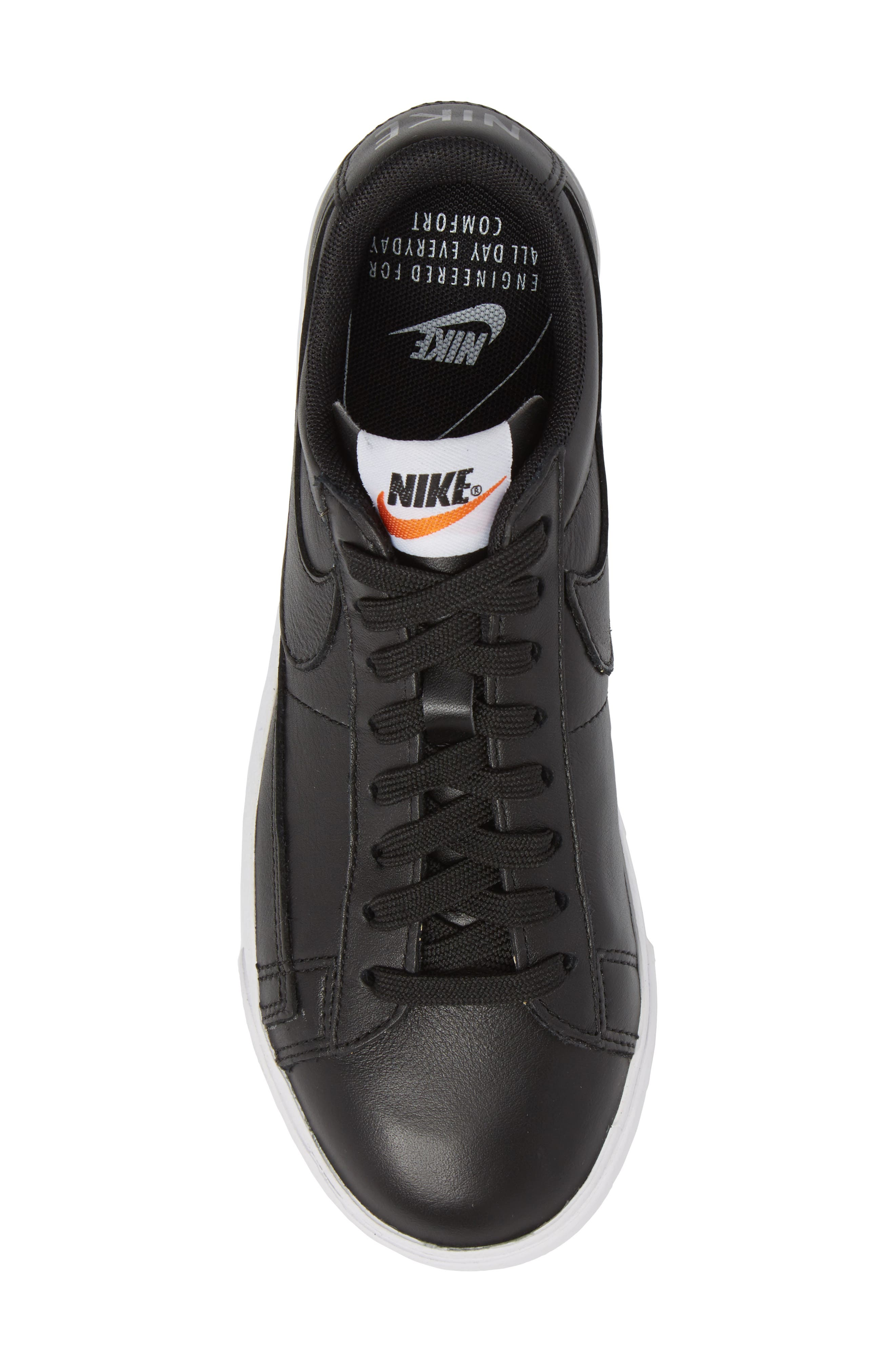 Blazer Low LE Basketball Shoe,                             Alternate thumbnail 5, color,                             Black/ Black/ White