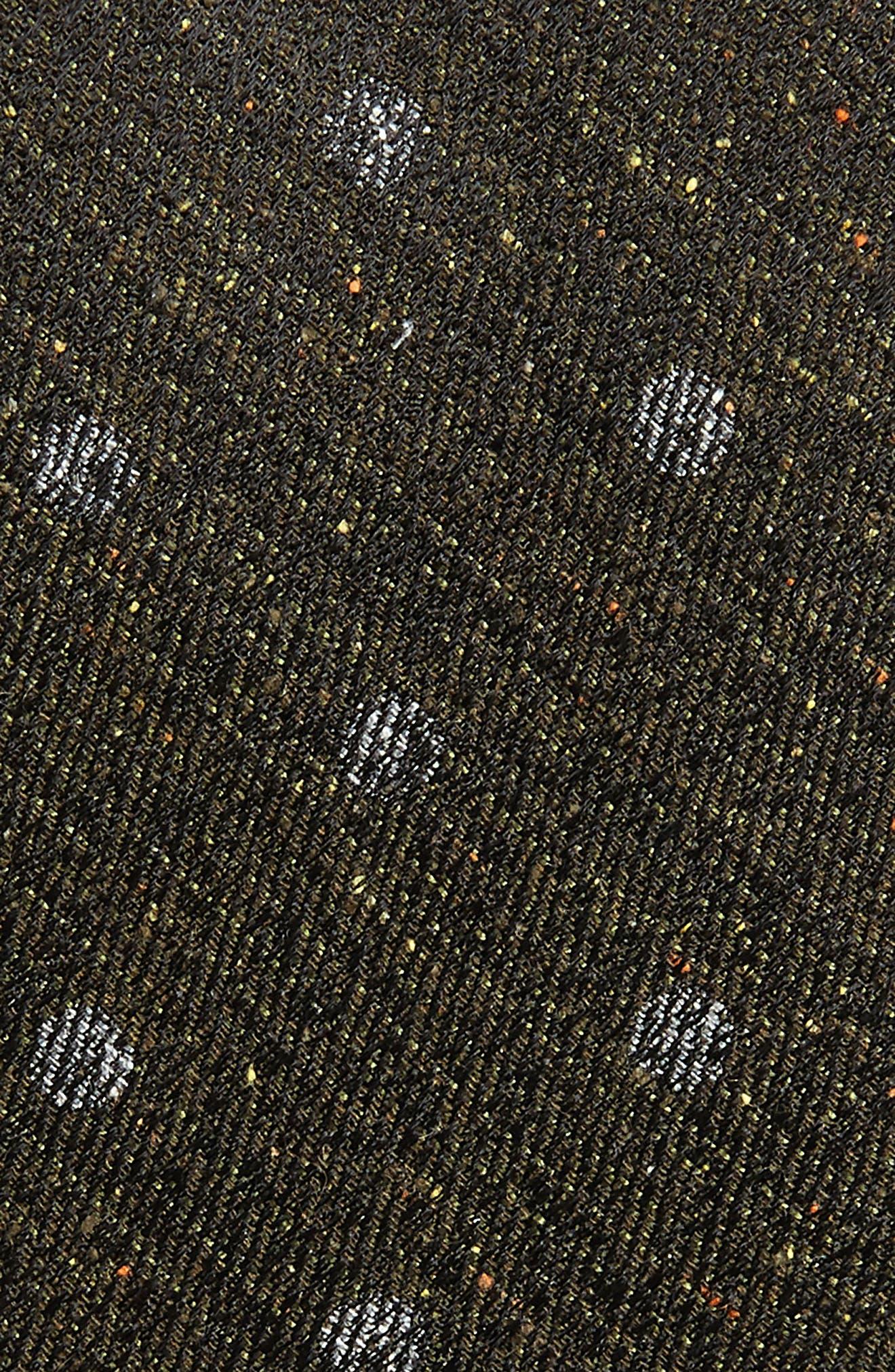 Landham Dot Silk Tie,                             Alternate thumbnail 2, color,                             Black