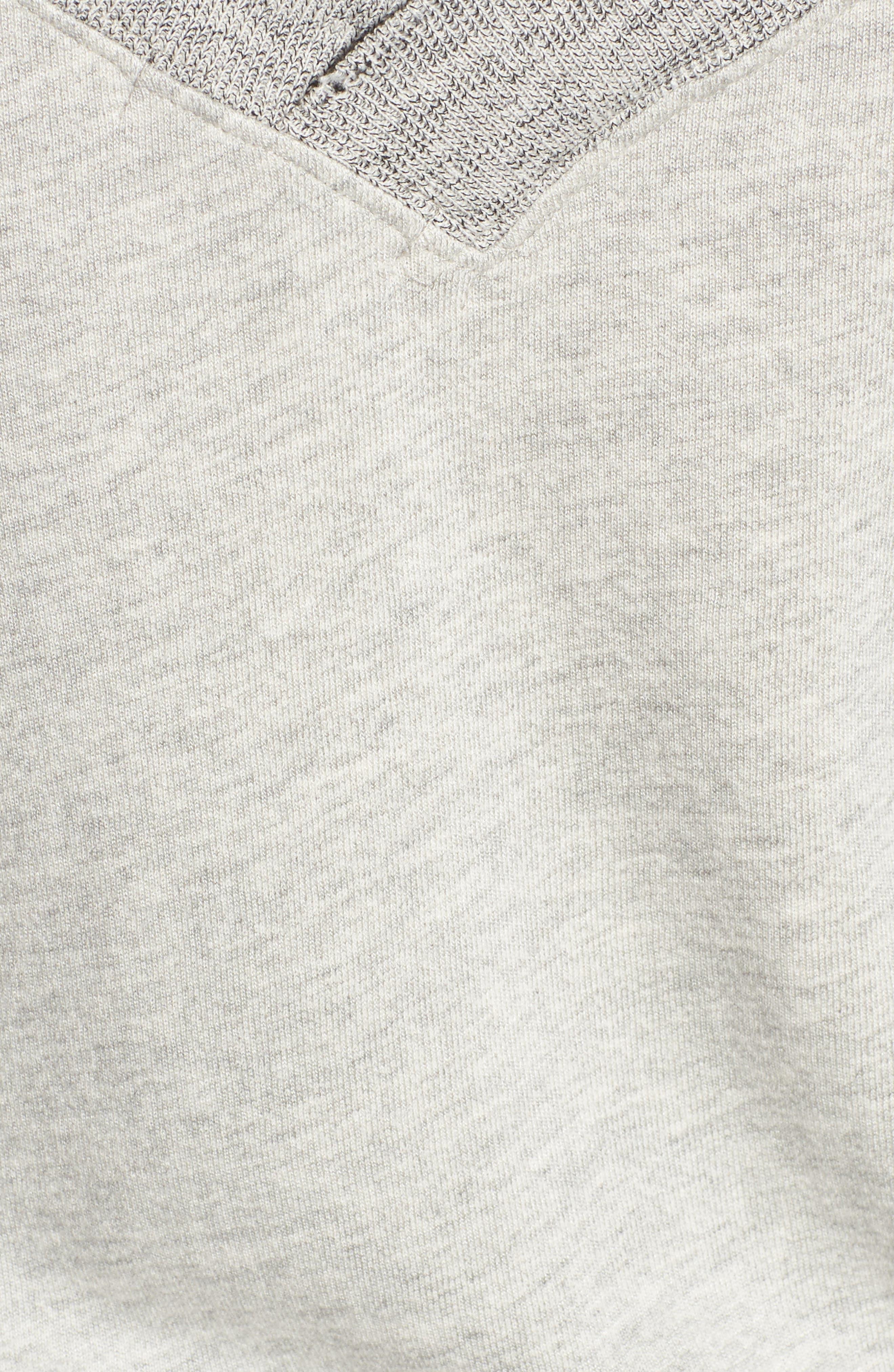 Mayer V-Neck Sweatshirt,                             Alternate thumbnail 5, color,                             Heather Grey