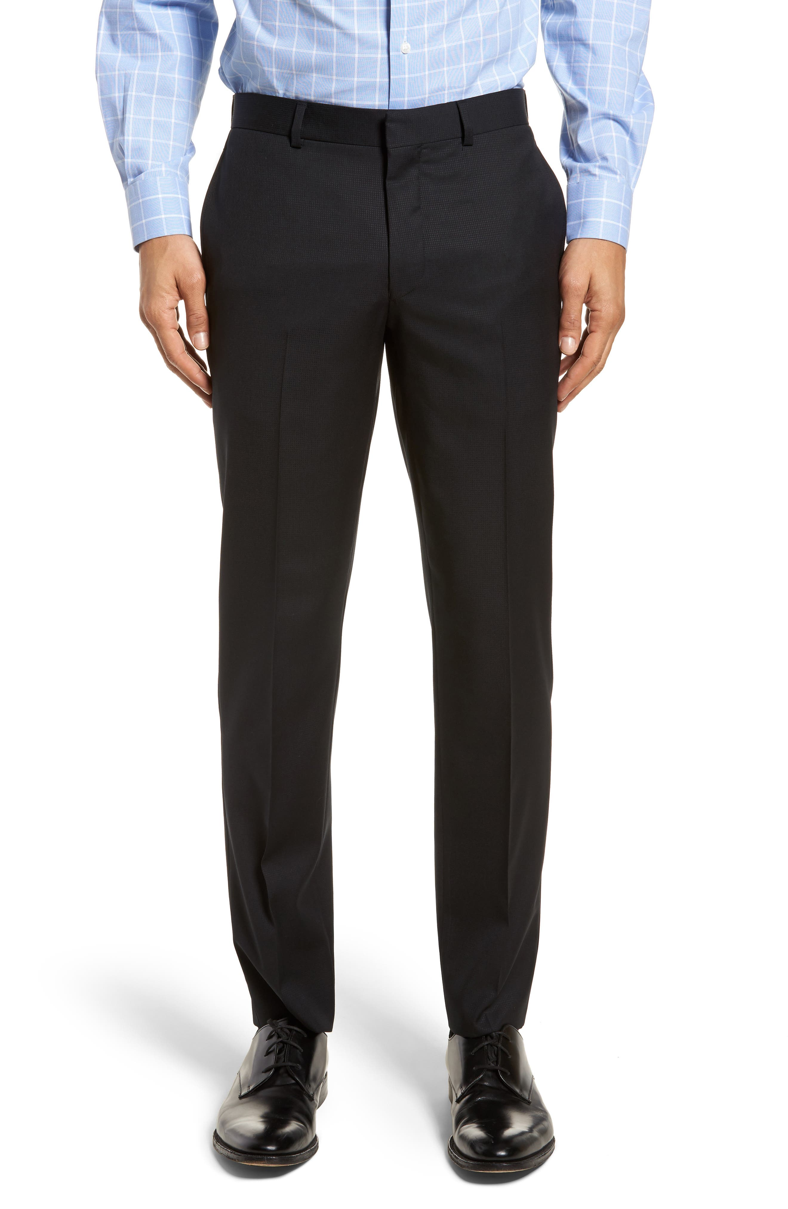 Roger Extra Slim Fit Solid Wool Suit,                             Alternate thumbnail 6, color,                             Black
