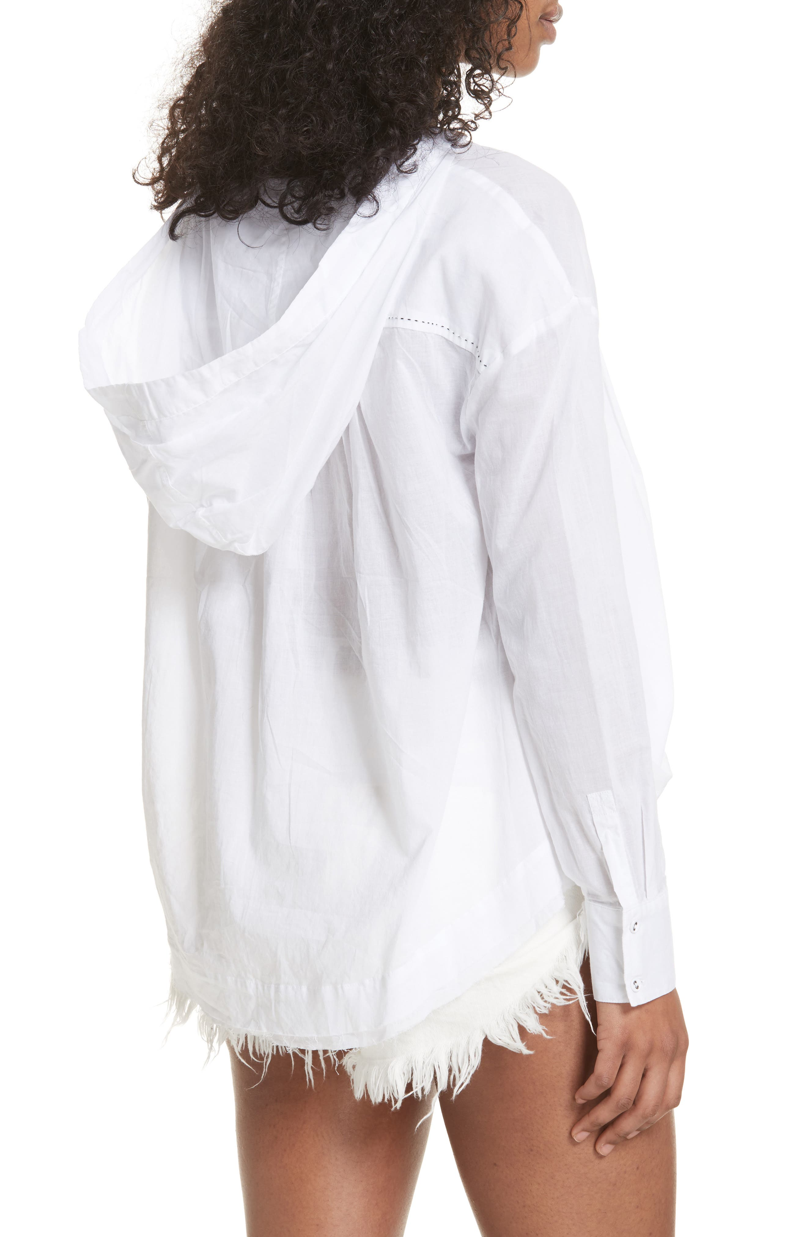 Breezy Hooded Shirt,                             Alternate thumbnail 2, color,                             White