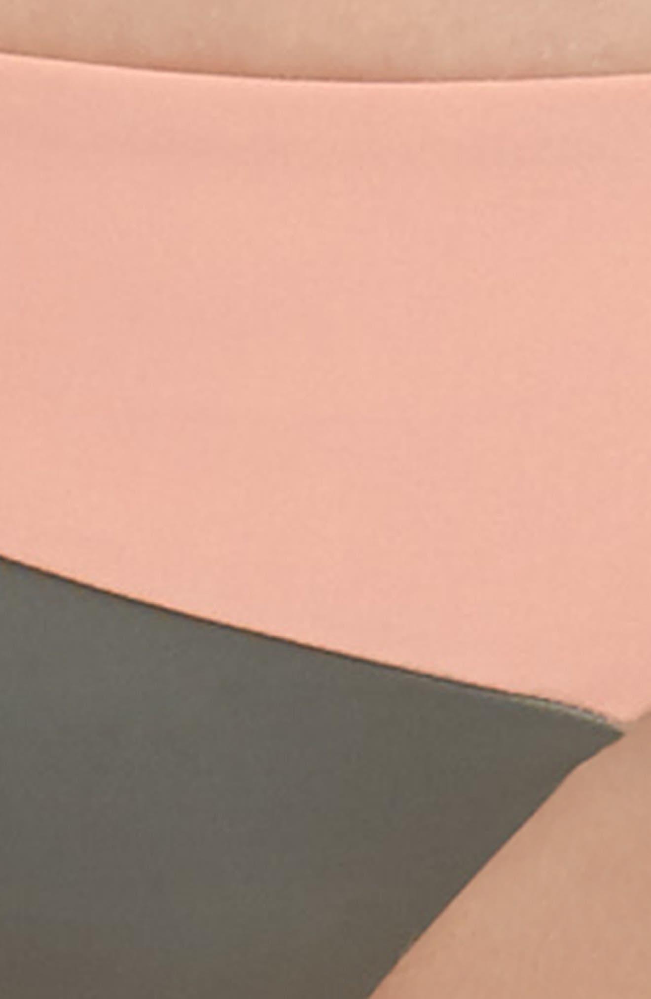 Jaclyn Hipster Bikini Bottoms,                             Alternate thumbnail 8, color,                             Desert Clay/ Cove Grey