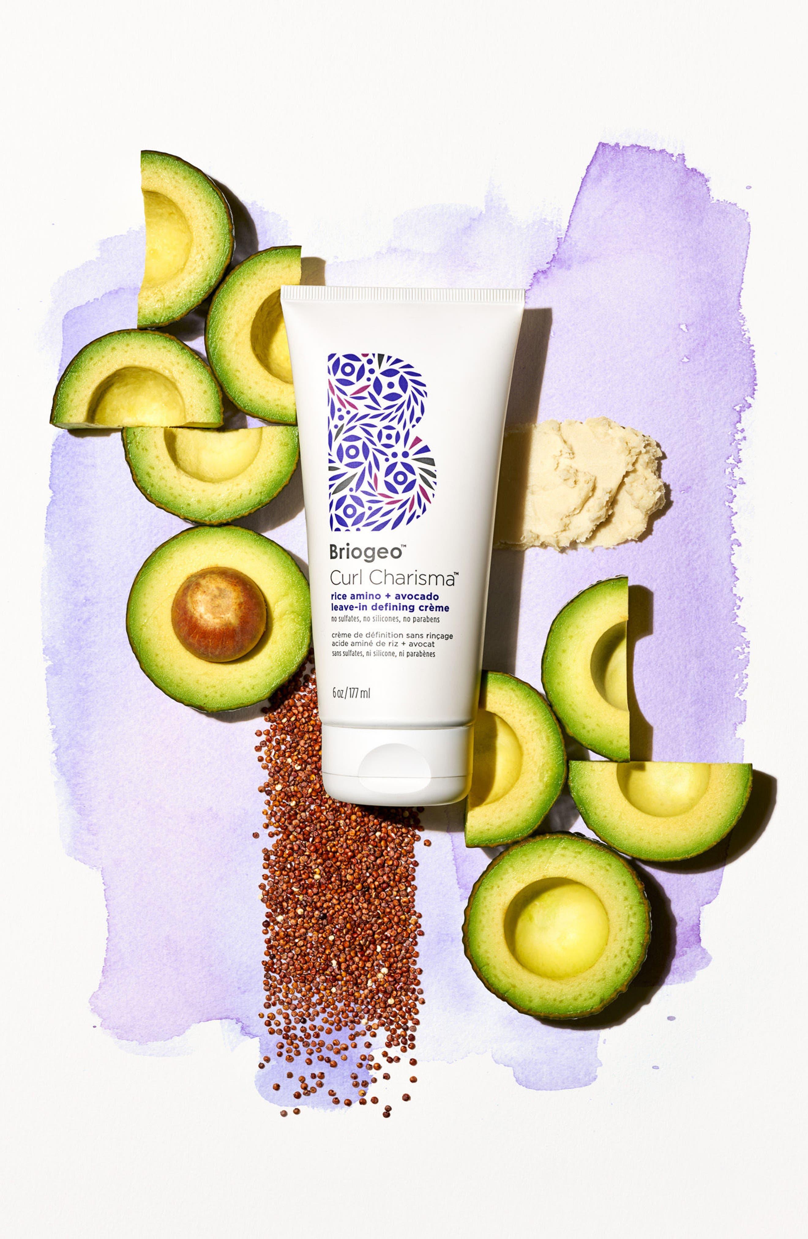 Curl Charisma Rice Amino + Avocado Leave-In Defining Crème,                             Alternate thumbnail 6, color,                             No Color