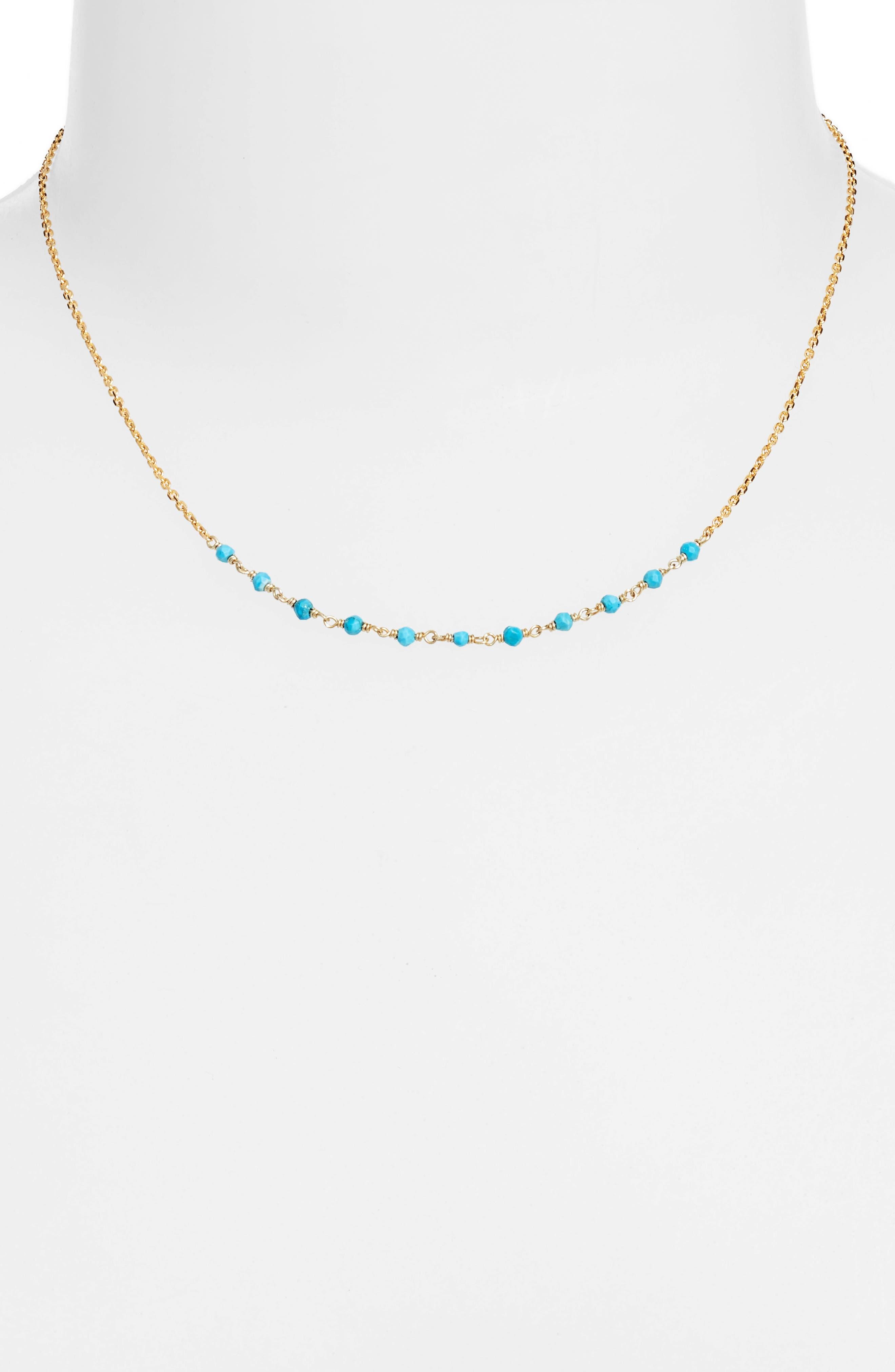 Argento Vivo Gold & Bead Necklace