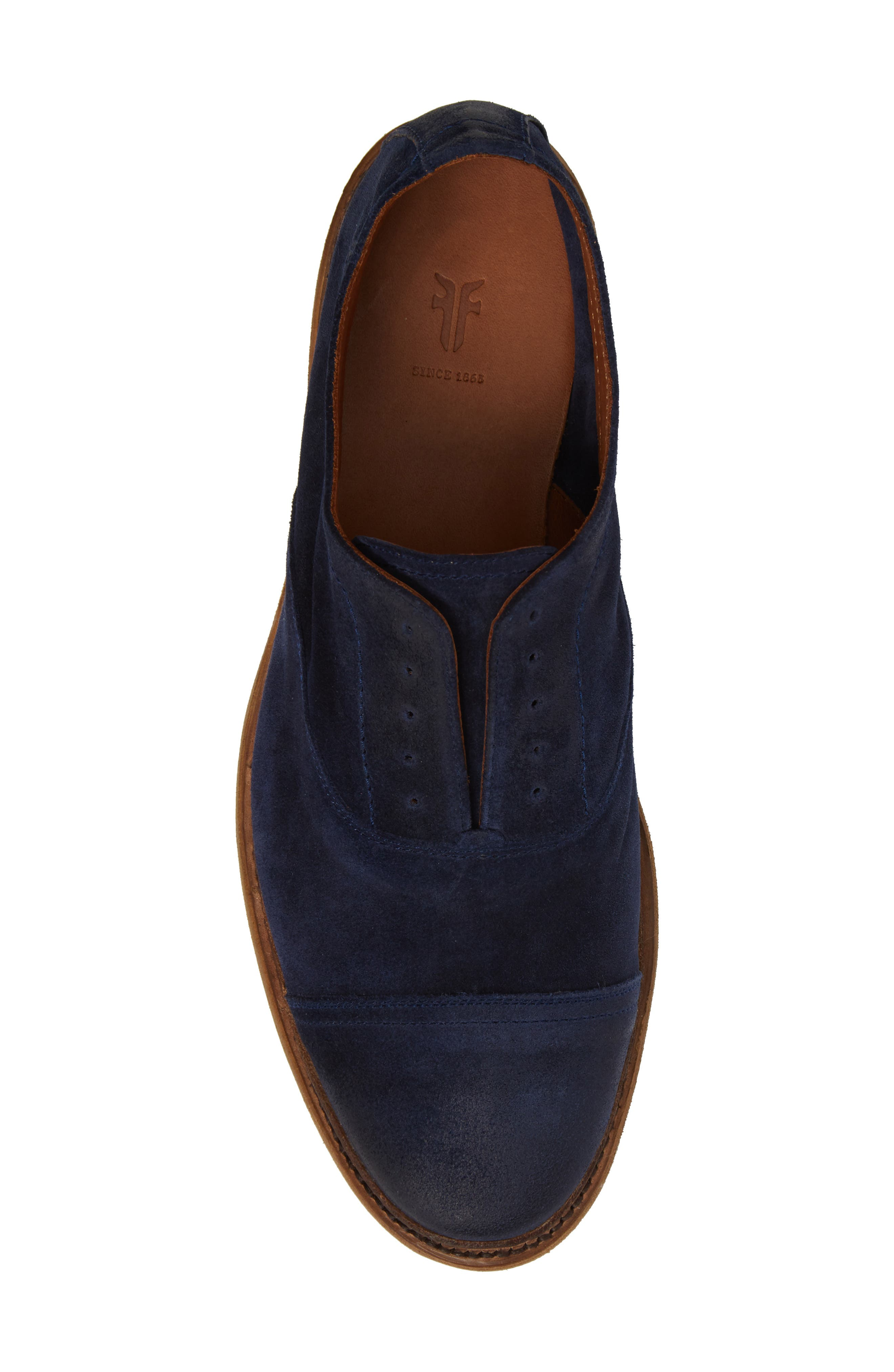 Paul Bal Cap Toe Oxford,                             Alternate thumbnail 5, color,                             Navy Suede