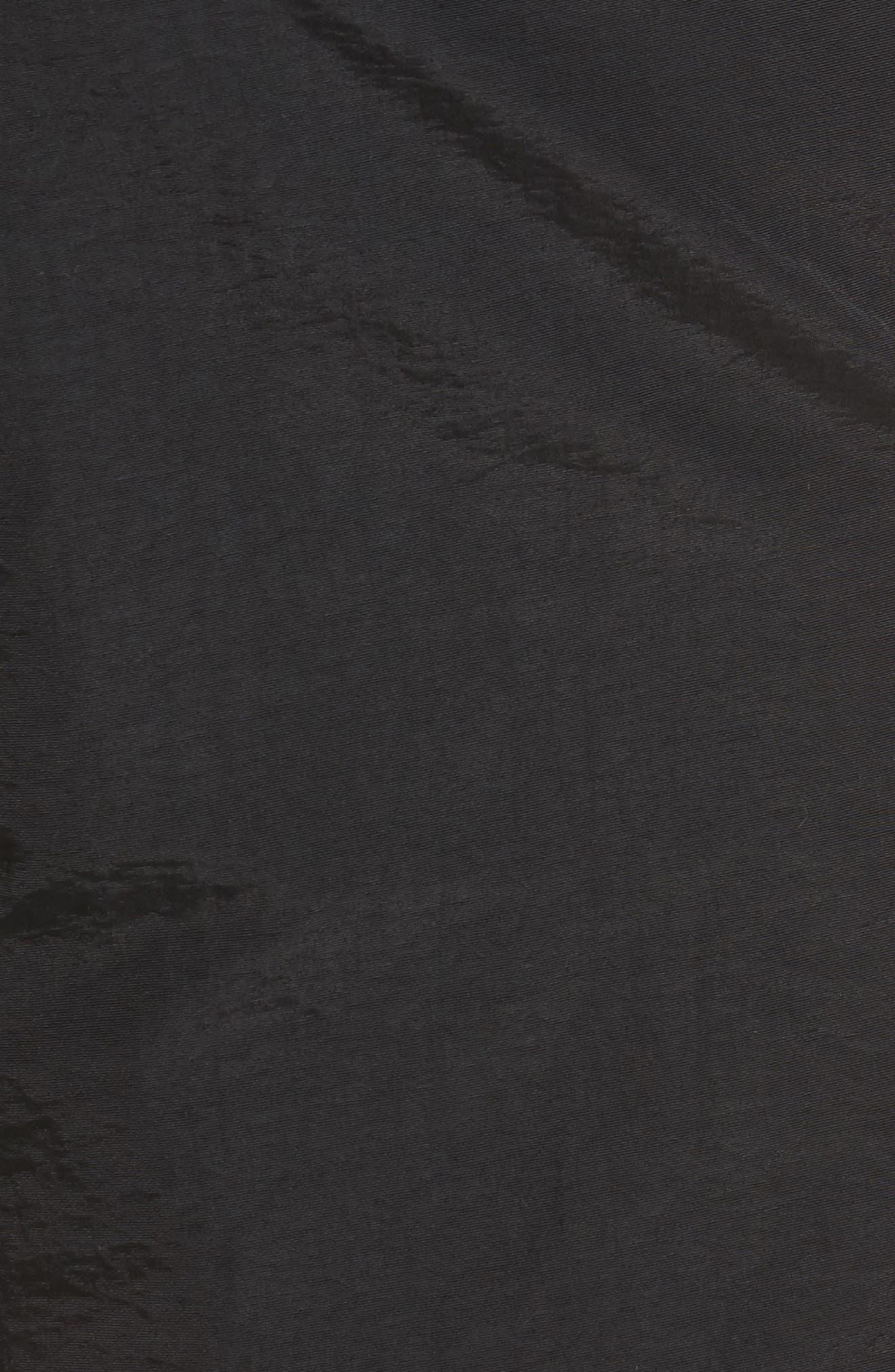 'Aruba' Tailored Fit Swim Trunks,                             Alternate thumbnail 5, color,                             Midnight Black Solid