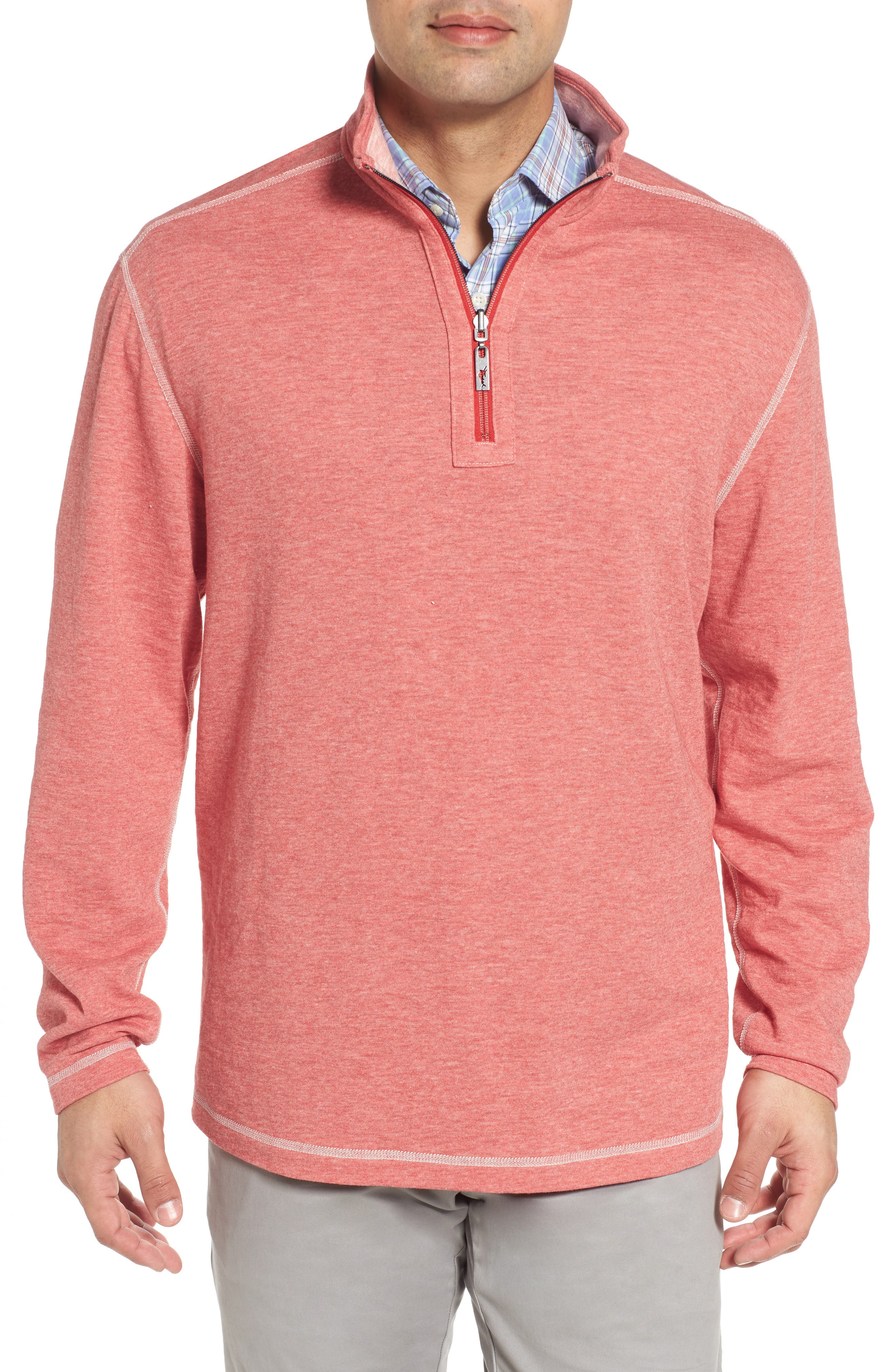 Alternate Image 6  - Tommy Bahama Sea Glass Reversible Quarter Zip Pullover