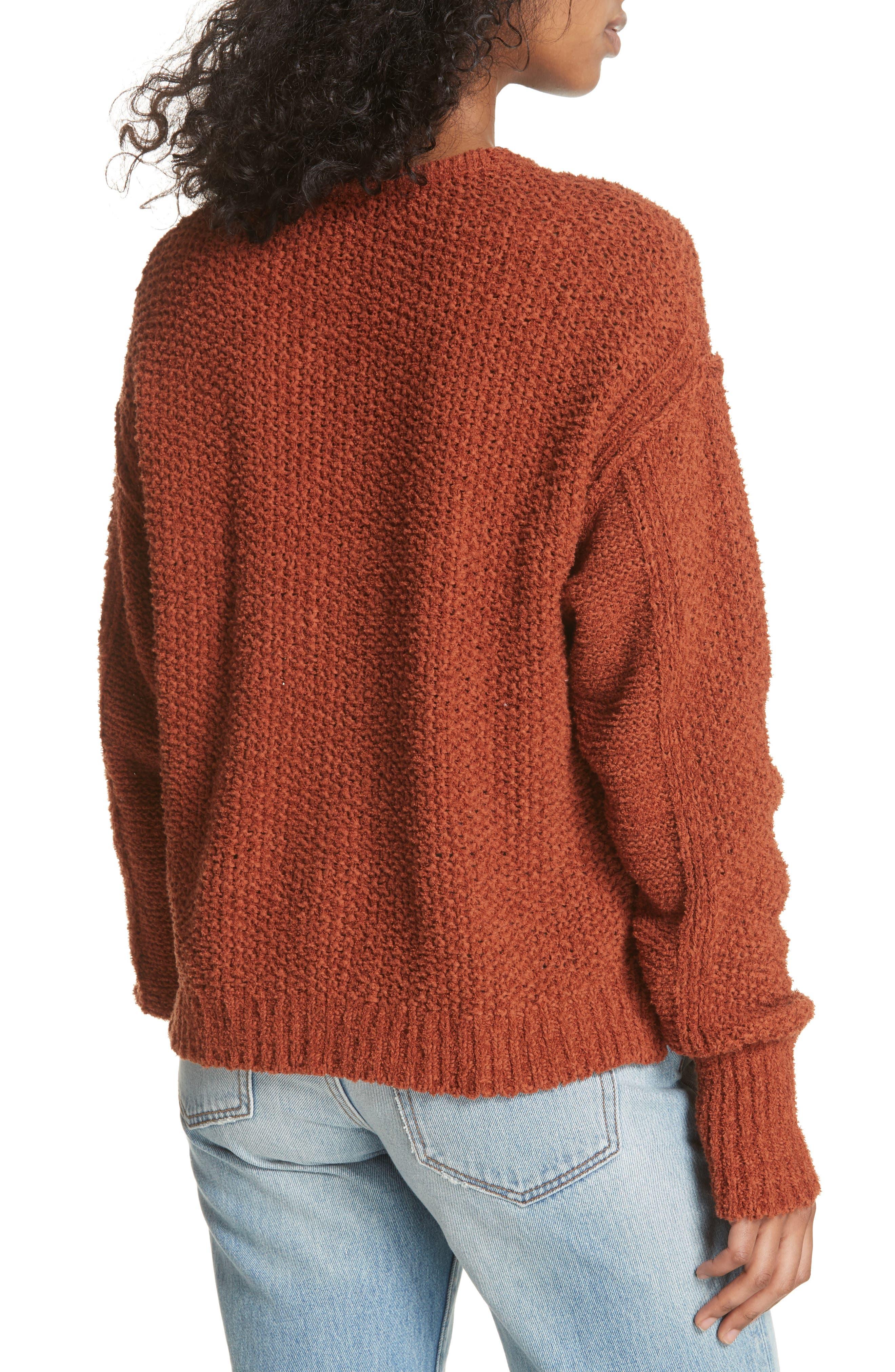 Coco V-Neck Sweater,                             Alternate thumbnail 2, color,                             Terracotta