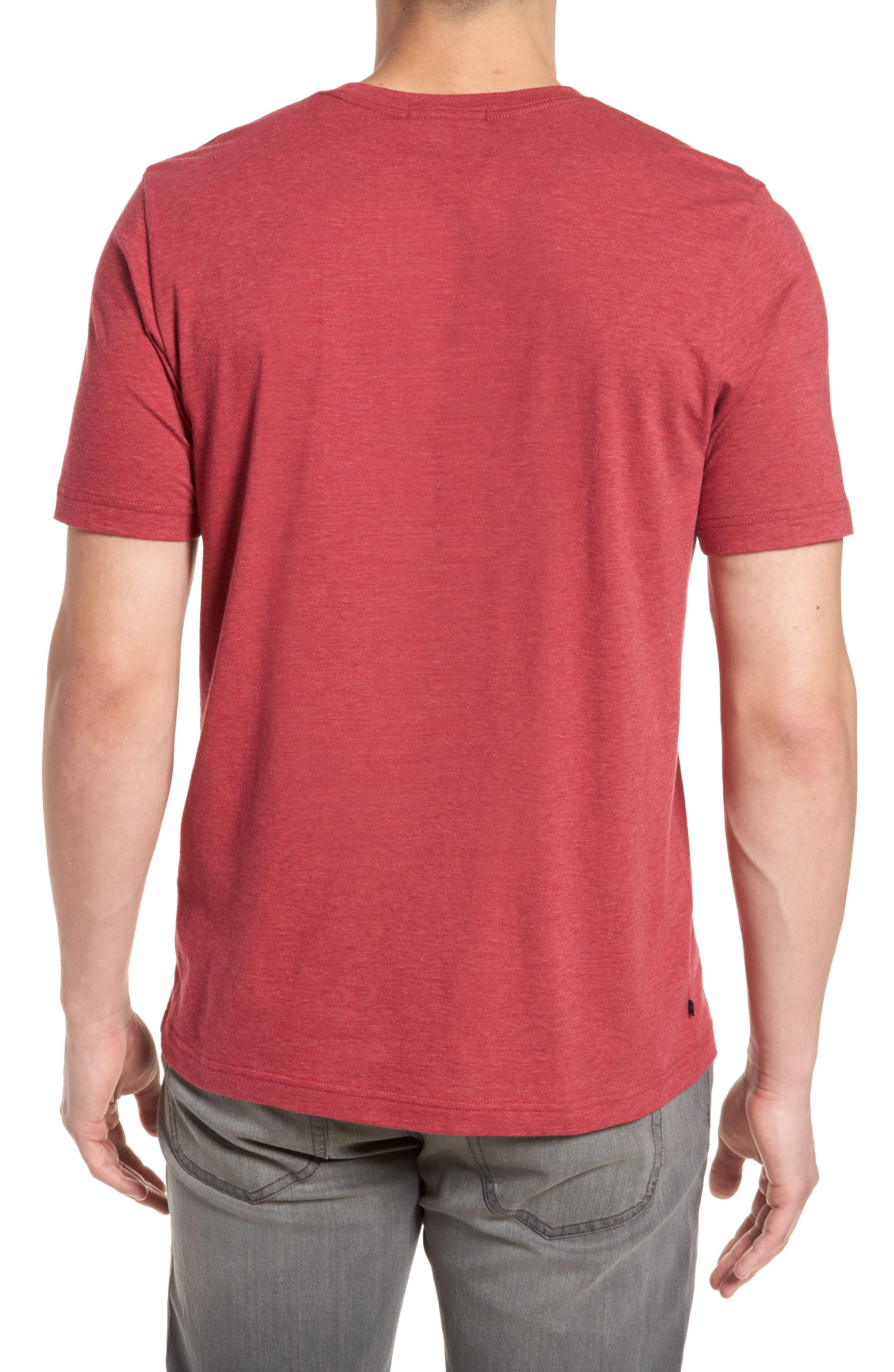 Hedrick T-Shirt,                             Alternate thumbnail 2, color,                             Heather Ox Blood