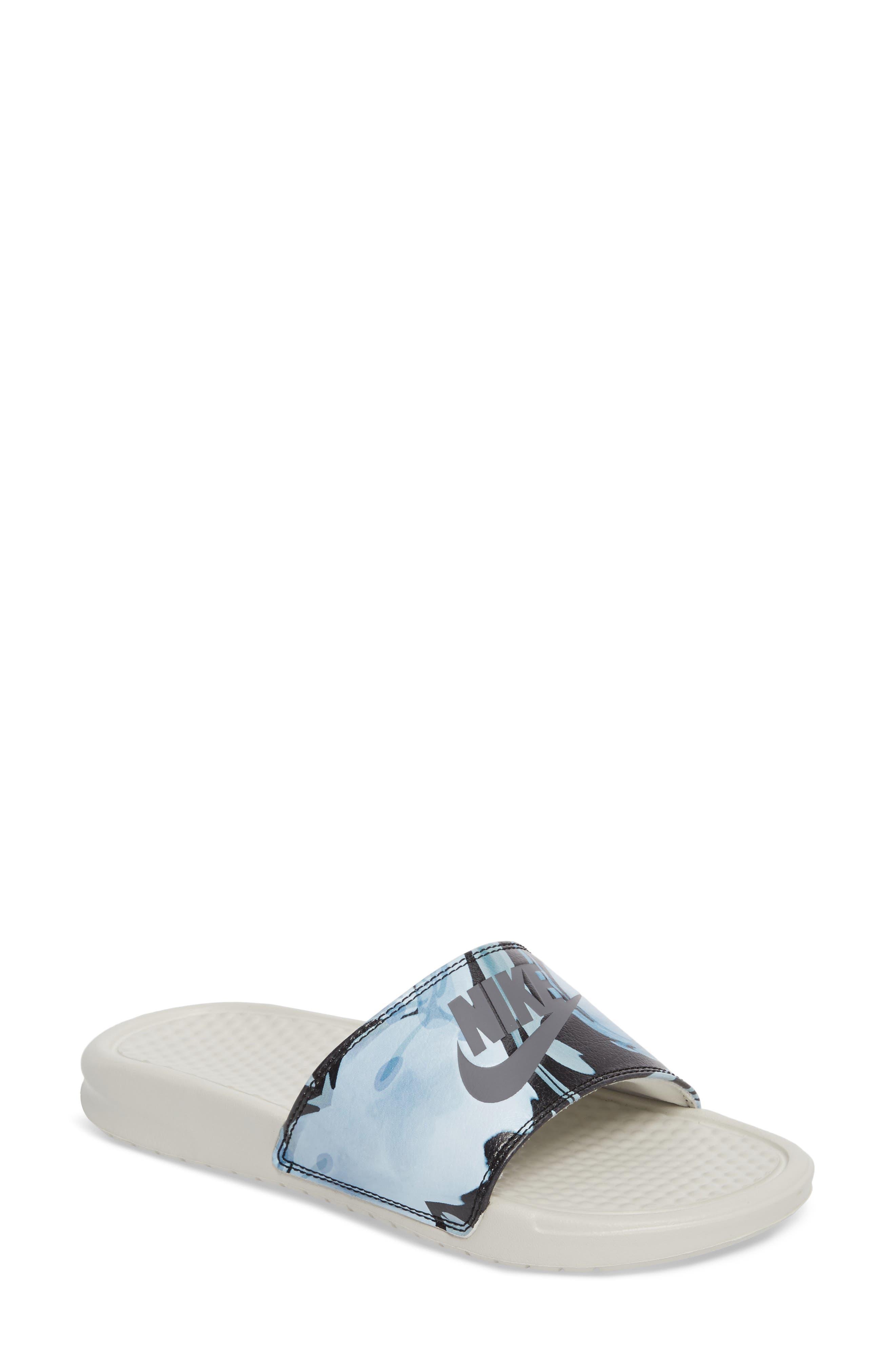 Alternate Image 1 Selected - Nike 'Benassi - Just Do It' Print Sandal (Women)
