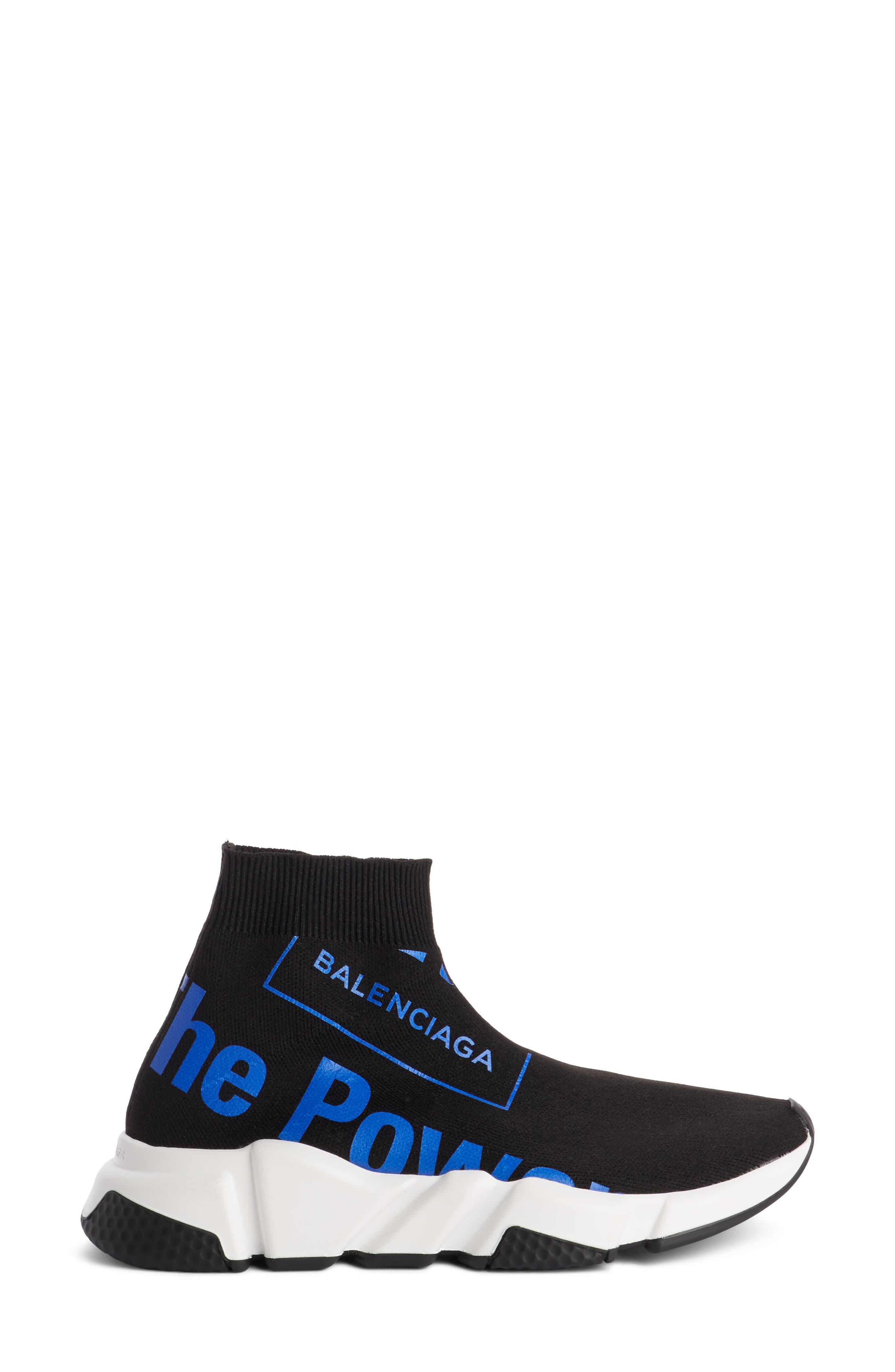 Dream Speed Trainer Sneaker,                             Alternate thumbnail 4, color,                             Black/ Blue