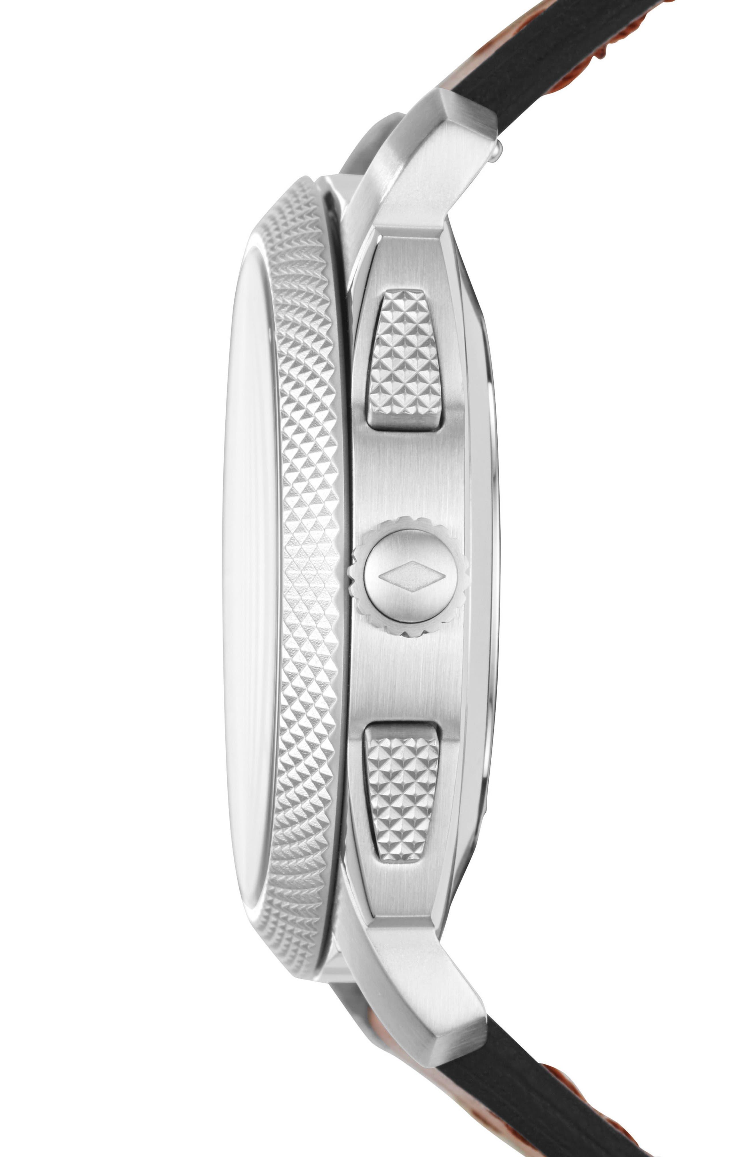 Alternate Image 2  - Fossil Q Machine Leather Strap Hybrid Smart Watch, 45mm