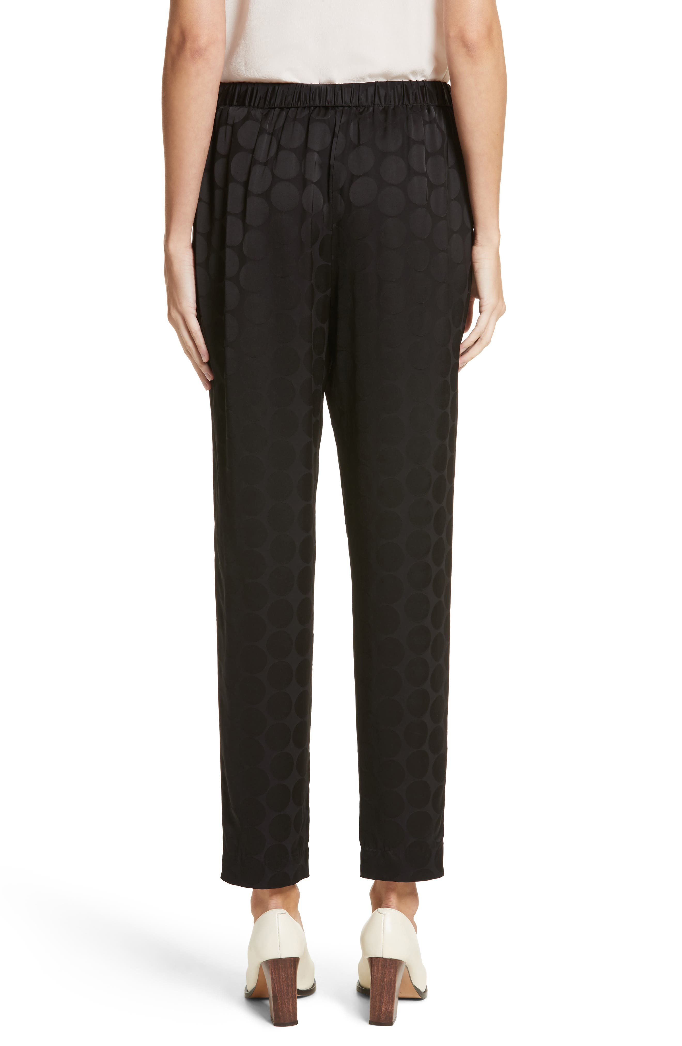 Tonal Dot Ankle Pants,                             Alternate thumbnail 2, color,                             Black
