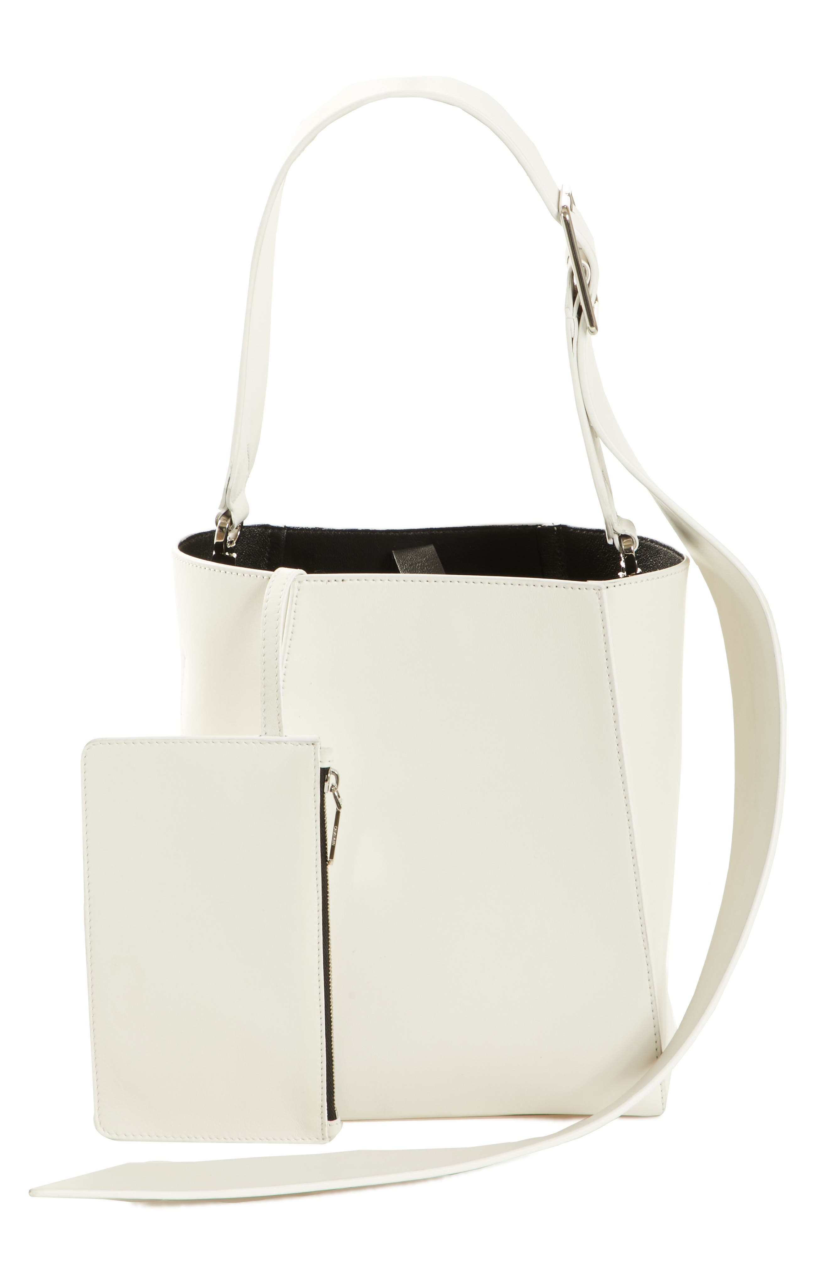 x Andy Warhol Foundation Small Bucket Bag with Bandana & Removable Pouch,                             Alternate thumbnail 2, color,                             White