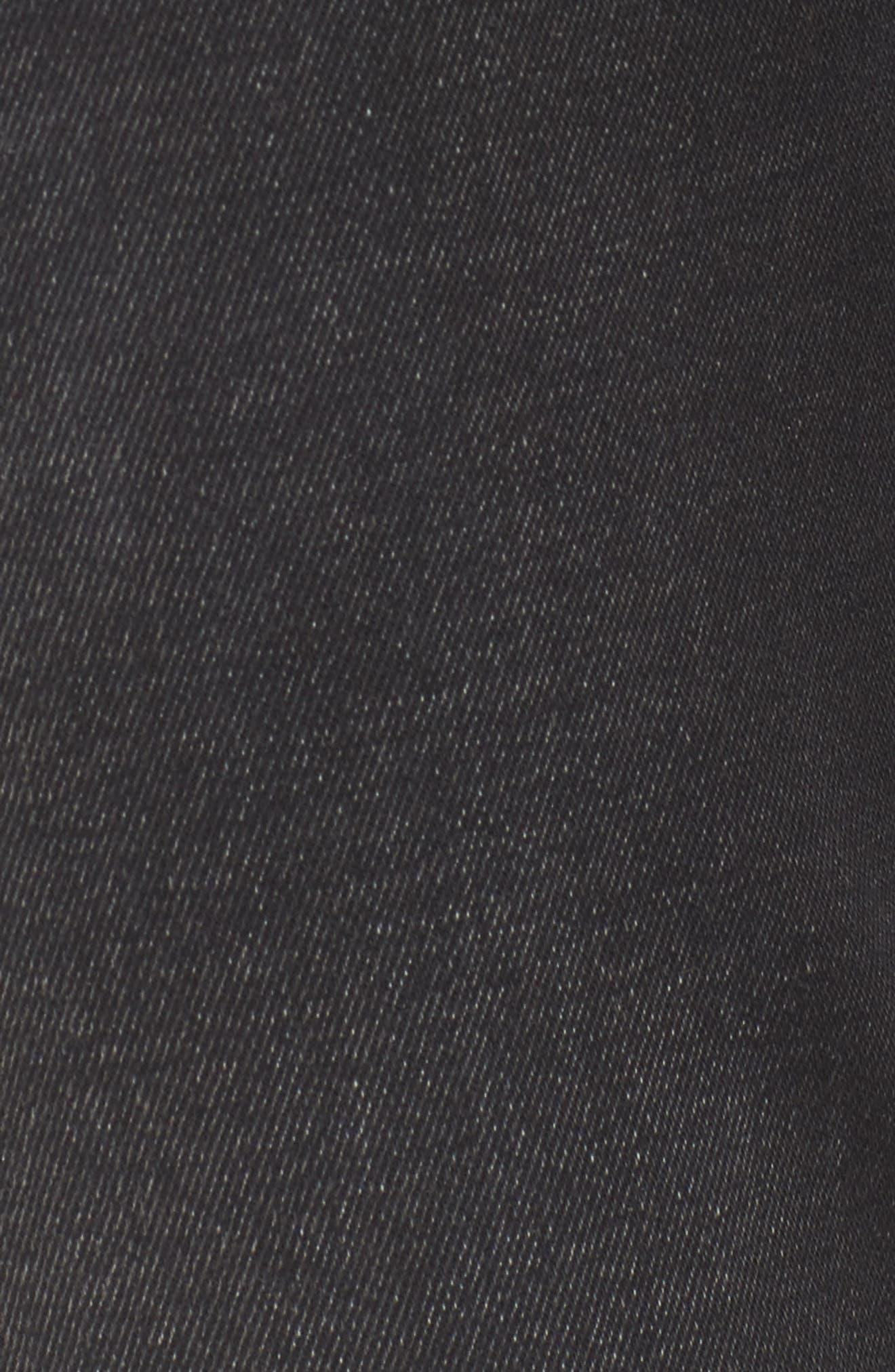 Alternate Image 5  - 7 For All Mankind® Aubrey High Waist Skinny Jeans (Aged Onyx 3)