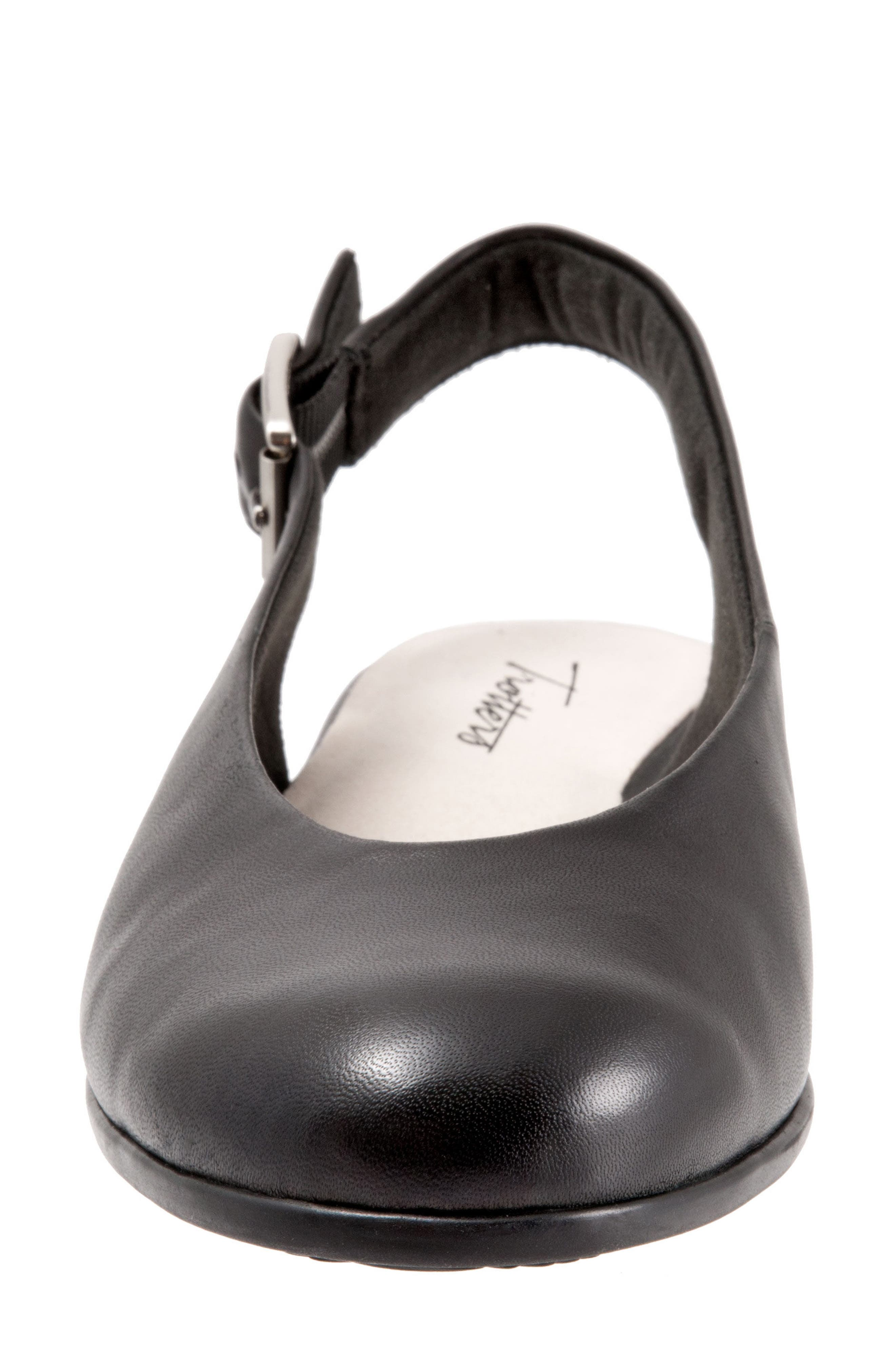 Alice Flat,                             Alternate thumbnail 4, color,                             Black Leather