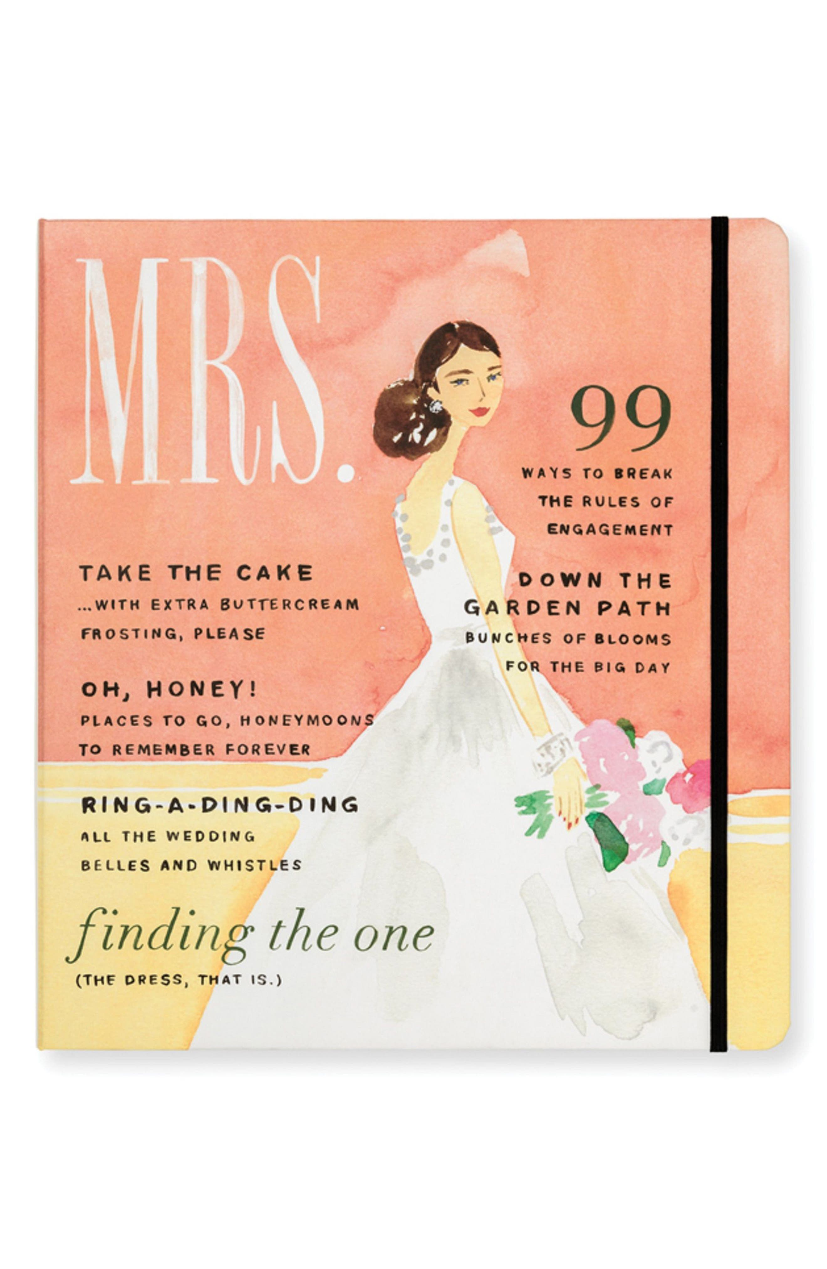mrs. magazine bridal planner,                             Main thumbnail 1, color,                             Pink