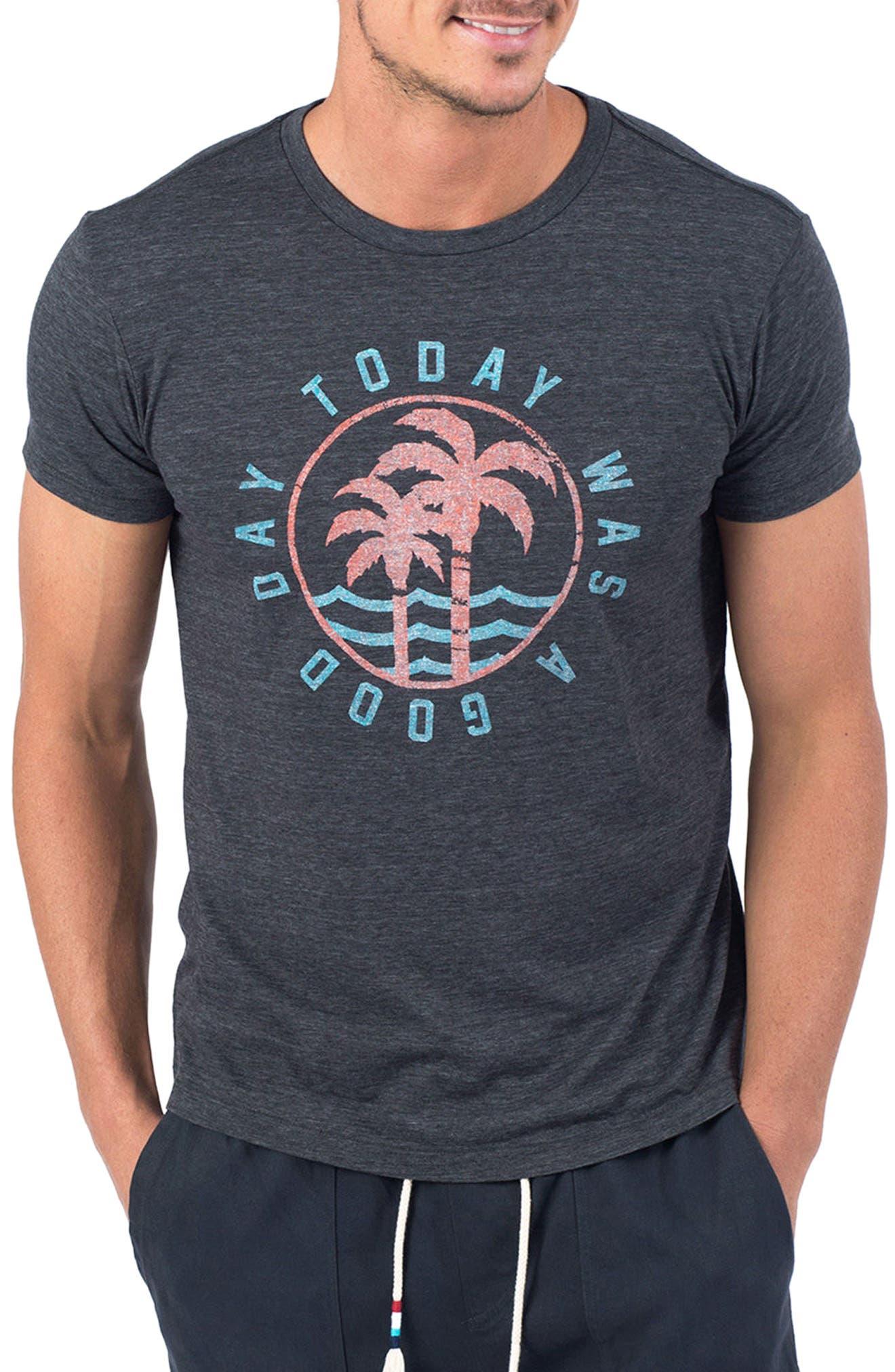 Good Day T-Shirt,                             Main thumbnail 1, color,                             V Black