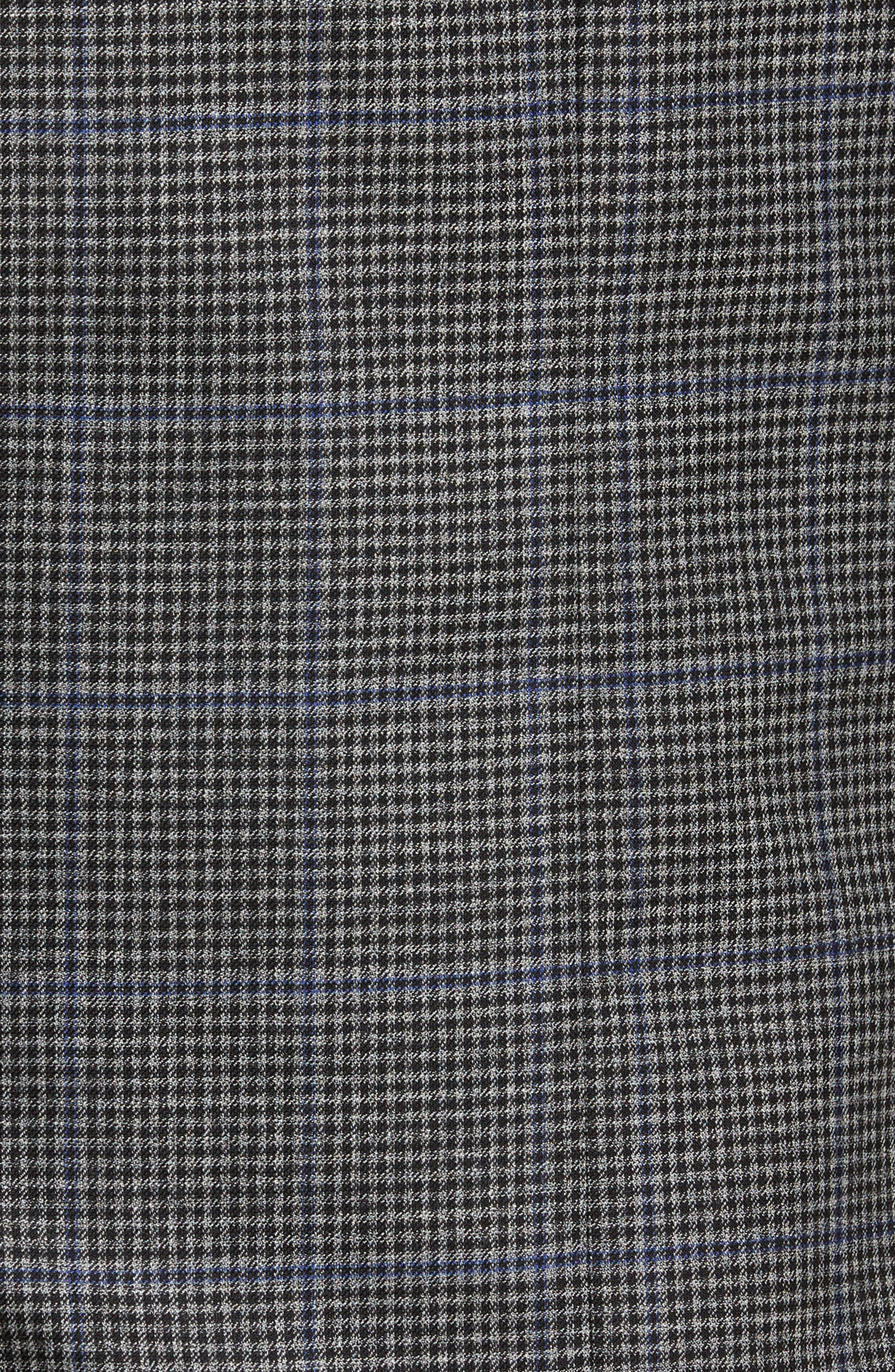 Classic Fit Stretch Check Wool Sport Coat,                             Alternate thumbnail 5, color,                             Grey