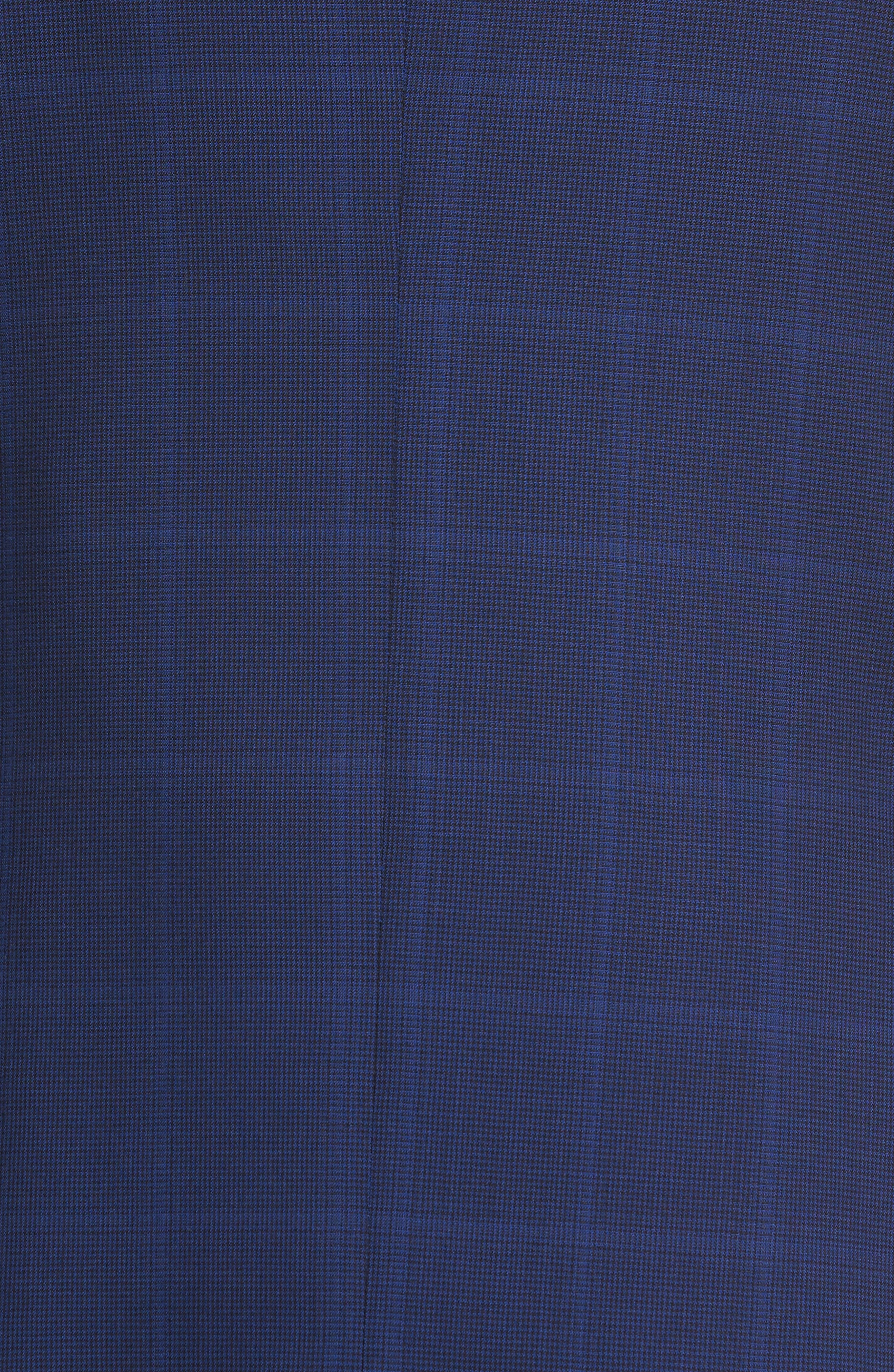 Classic Fit Windowpane Wool Suit,                             Alternate thumbnail 7, color,                             Navy