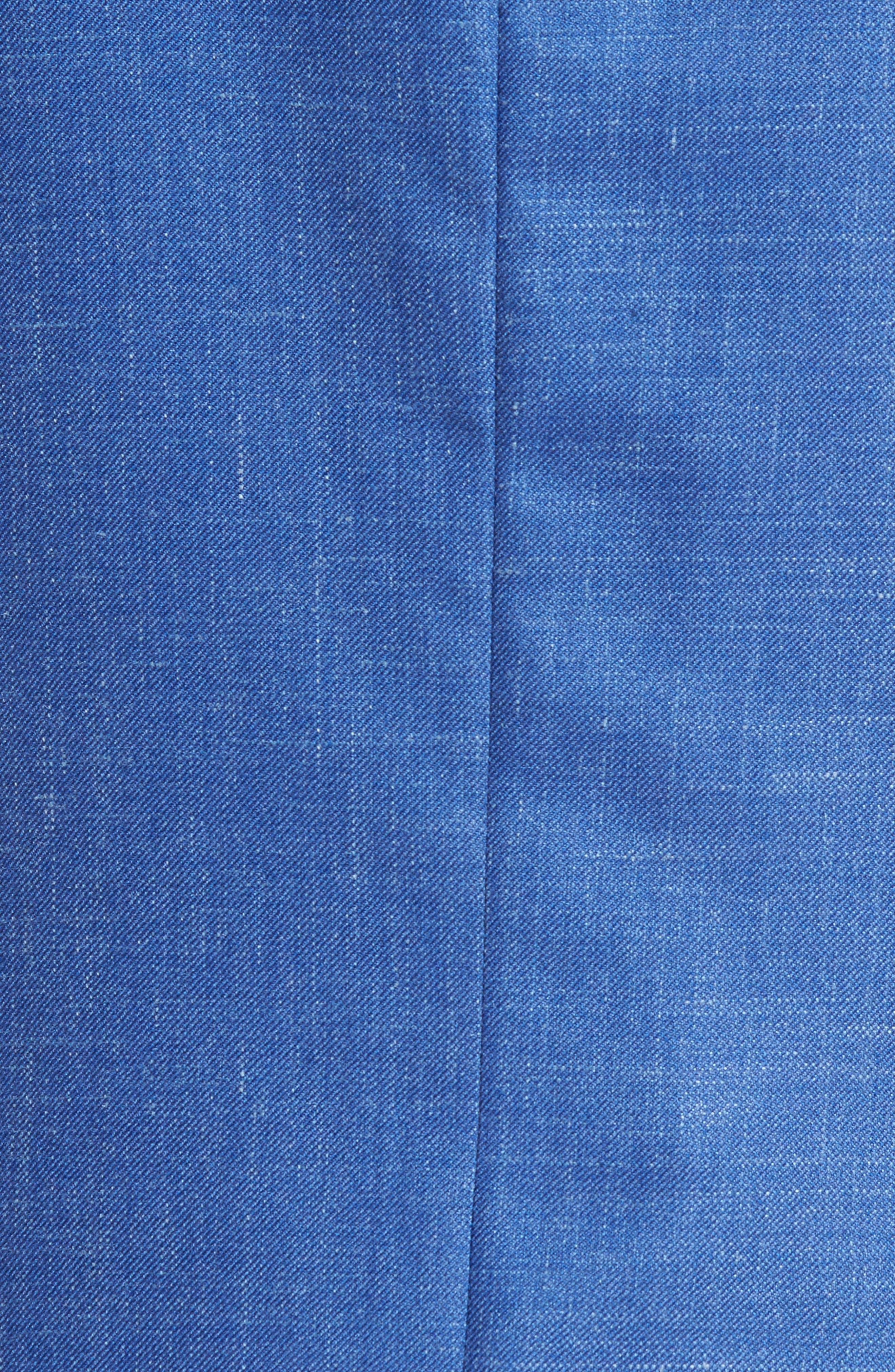 Classic Fit Wool Blend Blazer,                             Alternate thumbnail 5, color,                             Blue