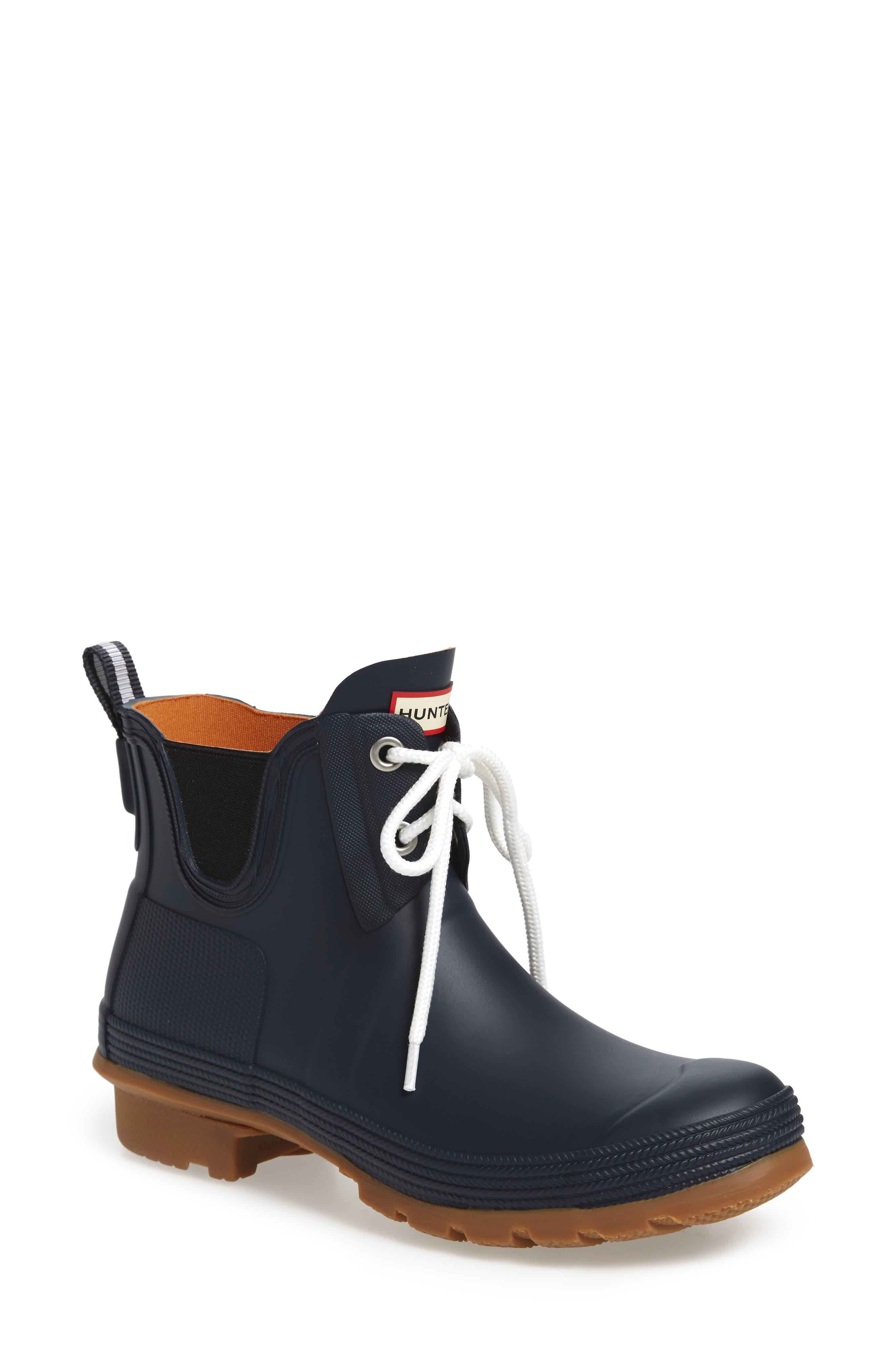Original Sissinghurst Waterproof Pull-On Boot,                             Main thumbnail 1, color,                             Navy/ Gum