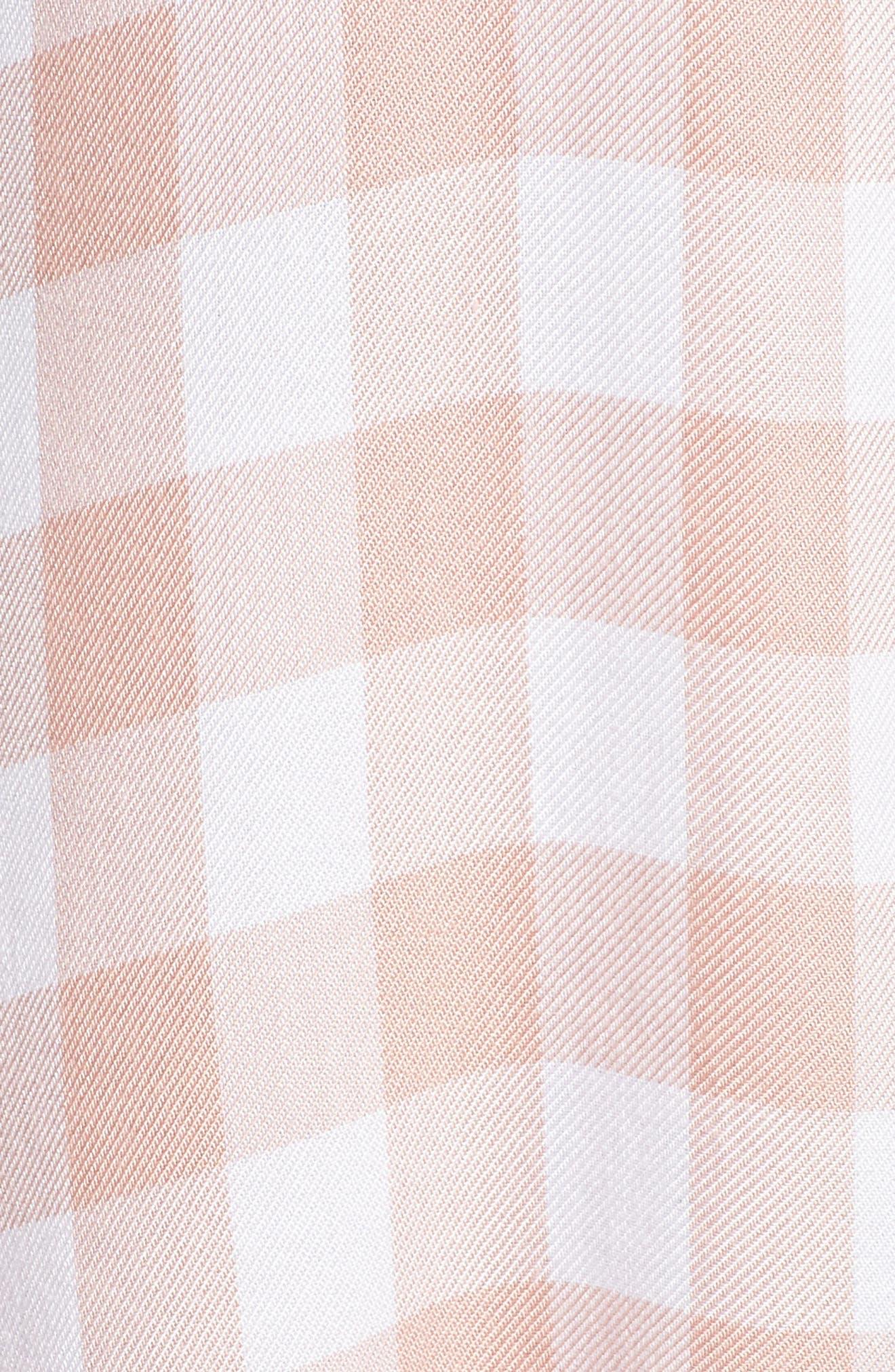 Cicely Plaid Shirtdress,                             Alternate thumbnail 5, color,                             Pink Lemonade